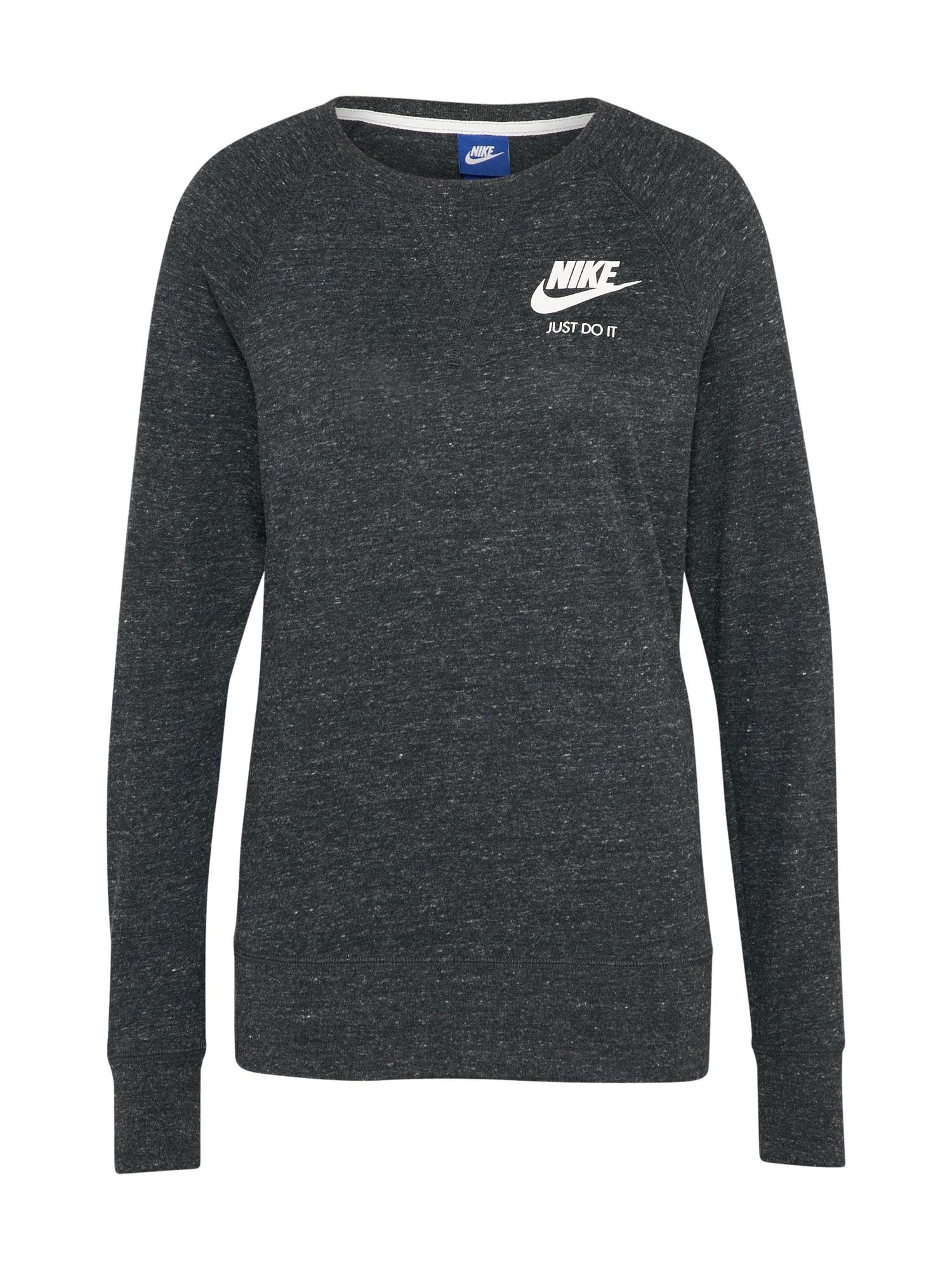 Nike Sportswear, Dames Sweatshirt 'Crew', antraciet