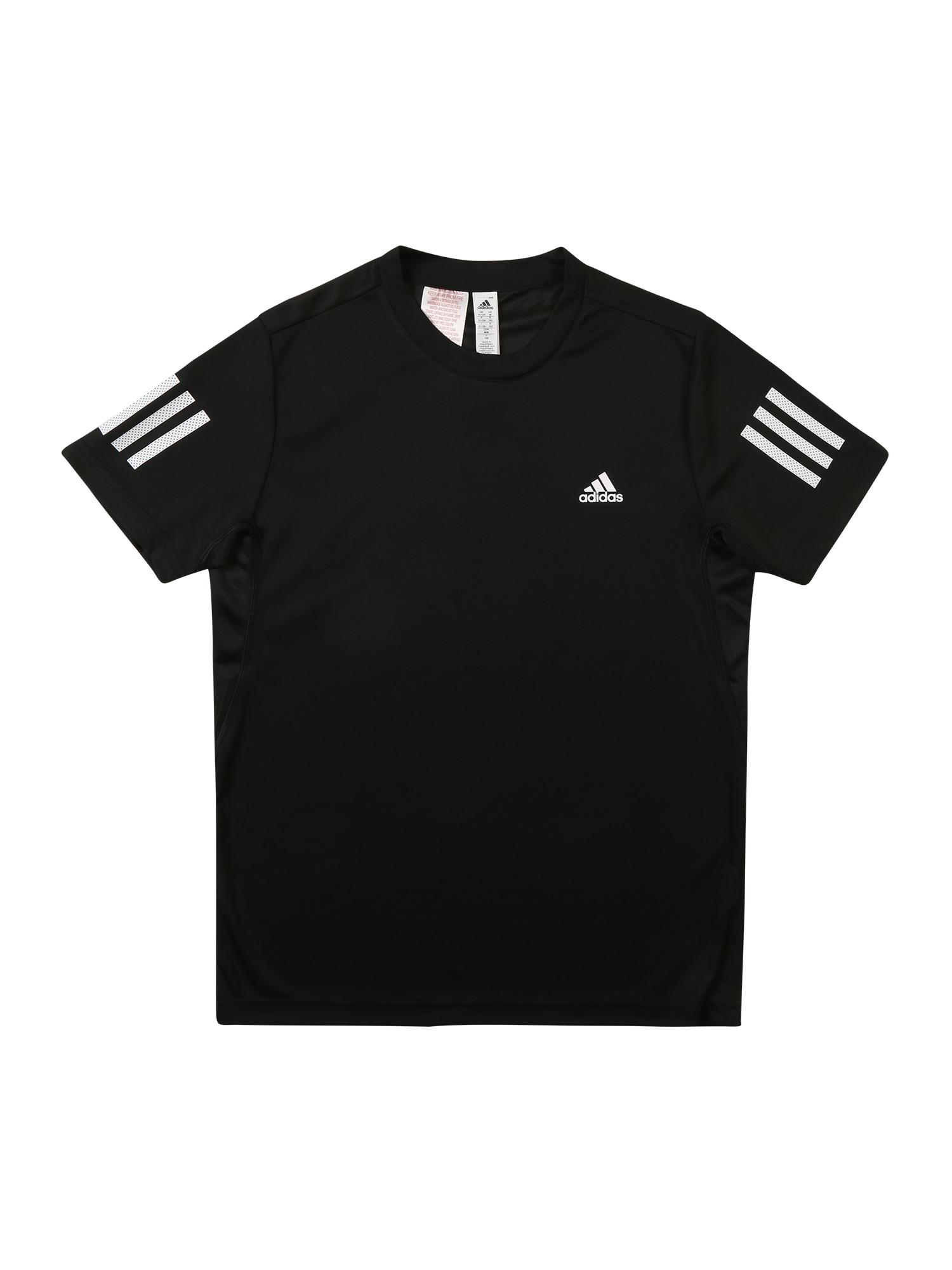 Funkční tričko 3-Streifen černá bílá ADIDAS PERFORMANCE