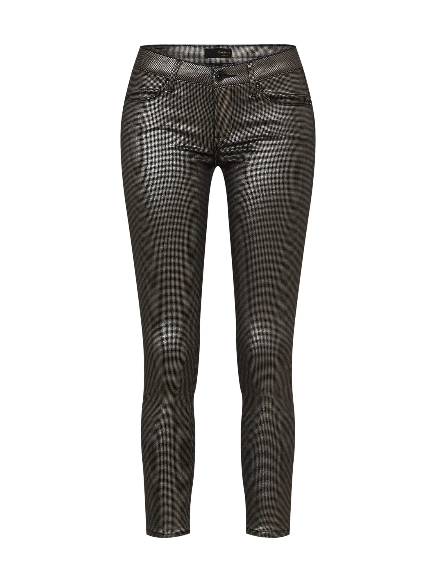 Kalhoty Lola Lux stříbrná Pepe Jeans