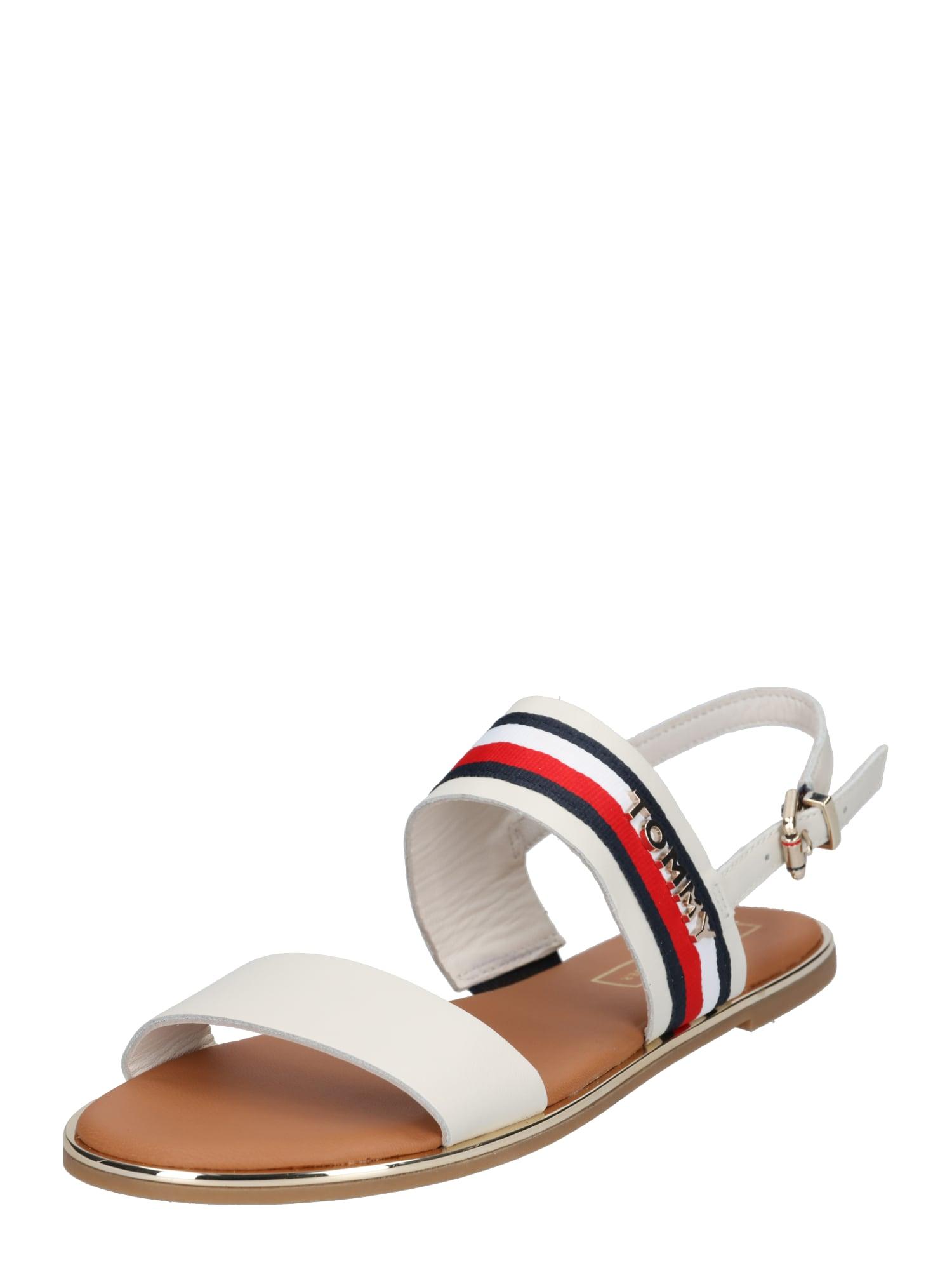 Páskové sandály Jennifer  námořnická modř  světle červená  offwhite TOMMY HILFIGER