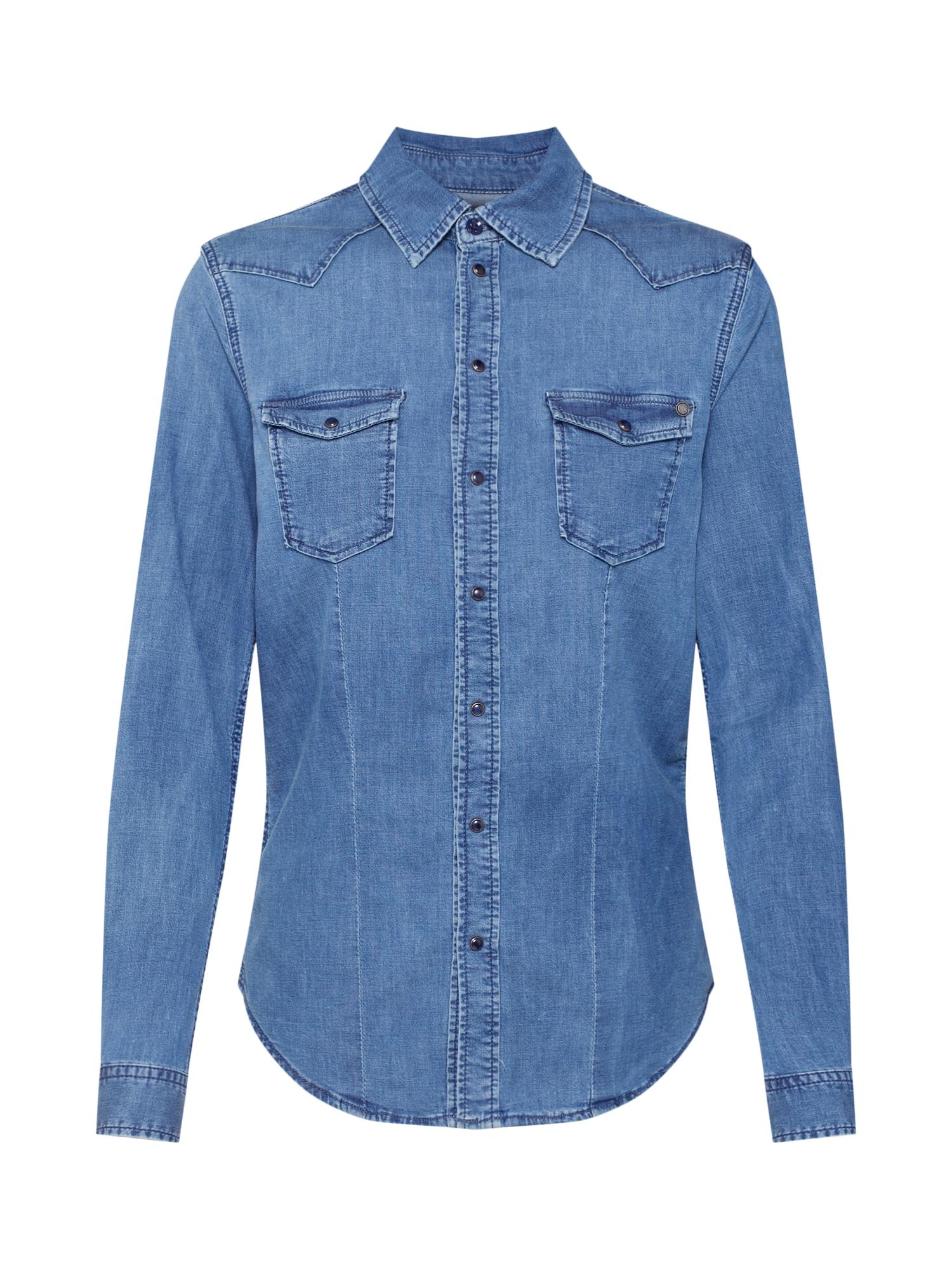 Halenka Rosie modrá džínovina Pepe Jeans