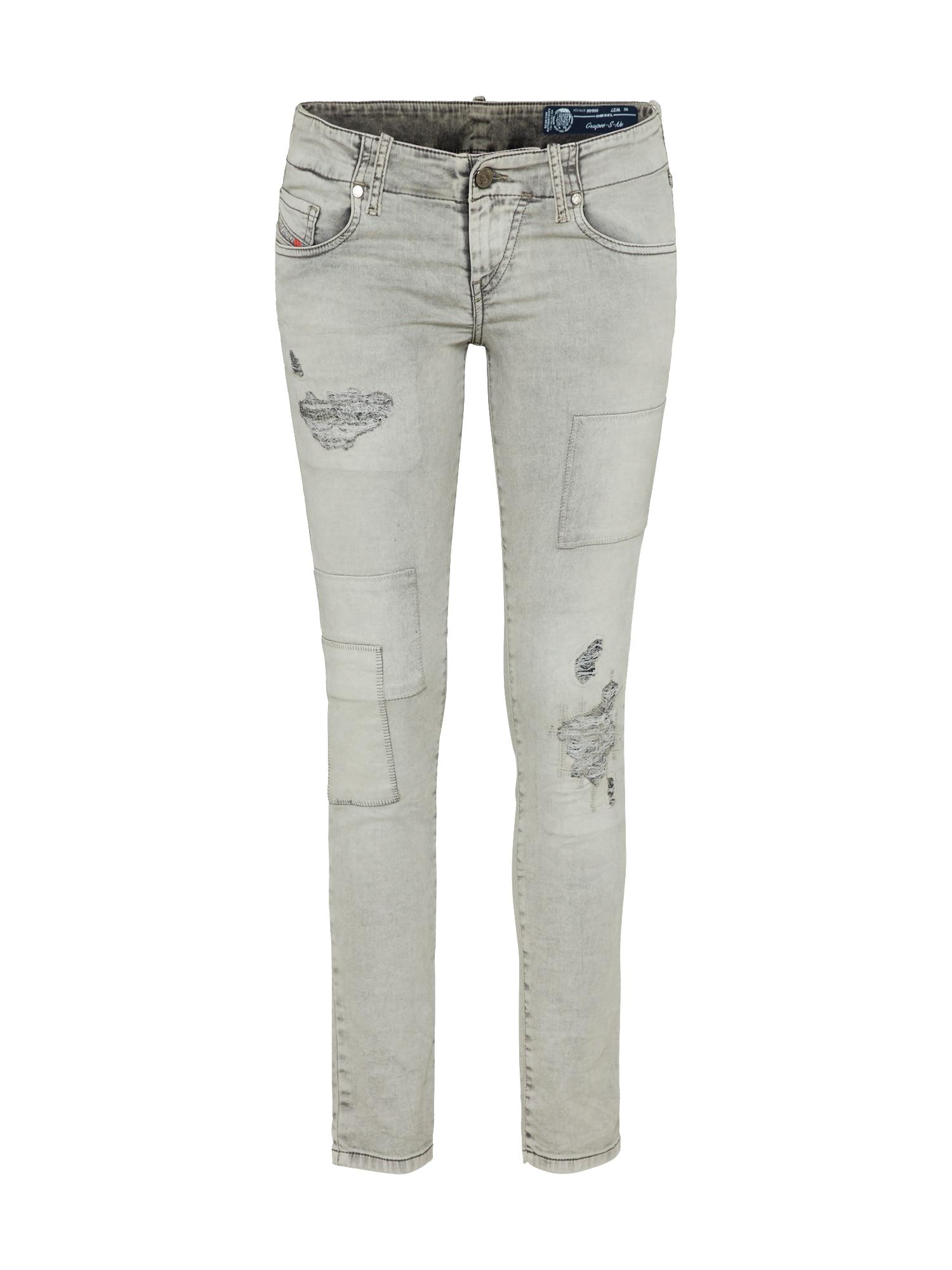 DIESEL Dames Jeans GRUPEE-S-NE grijs