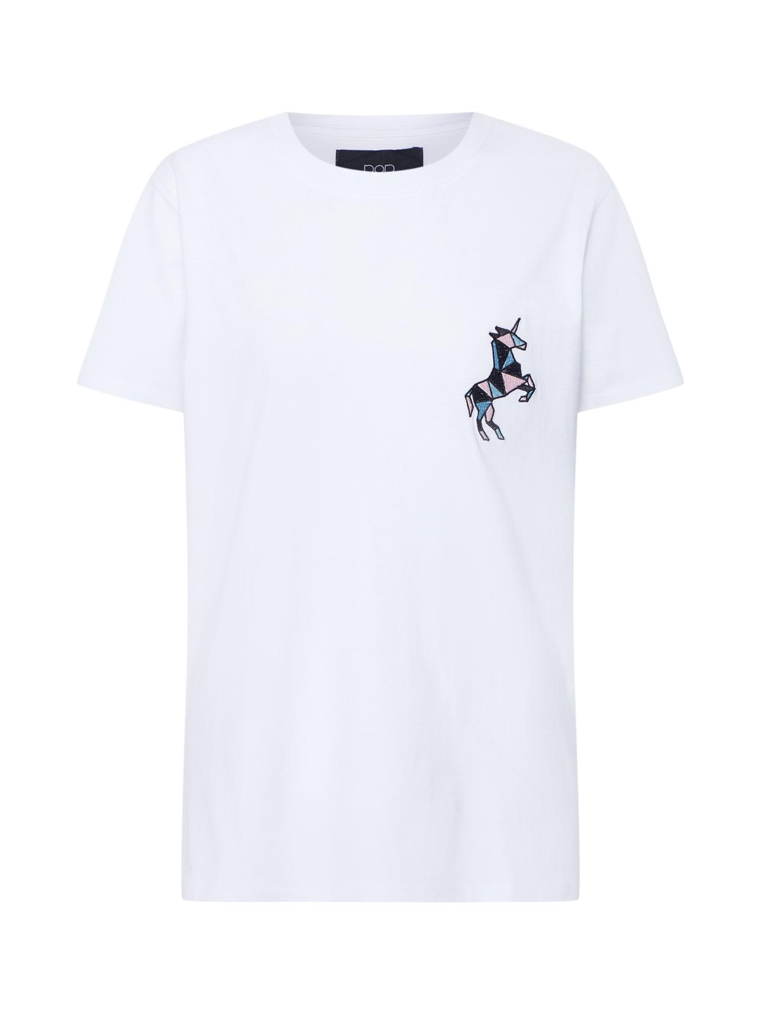 Tričko Unicorn Embroidery Tee bílá Pop Copenhagen