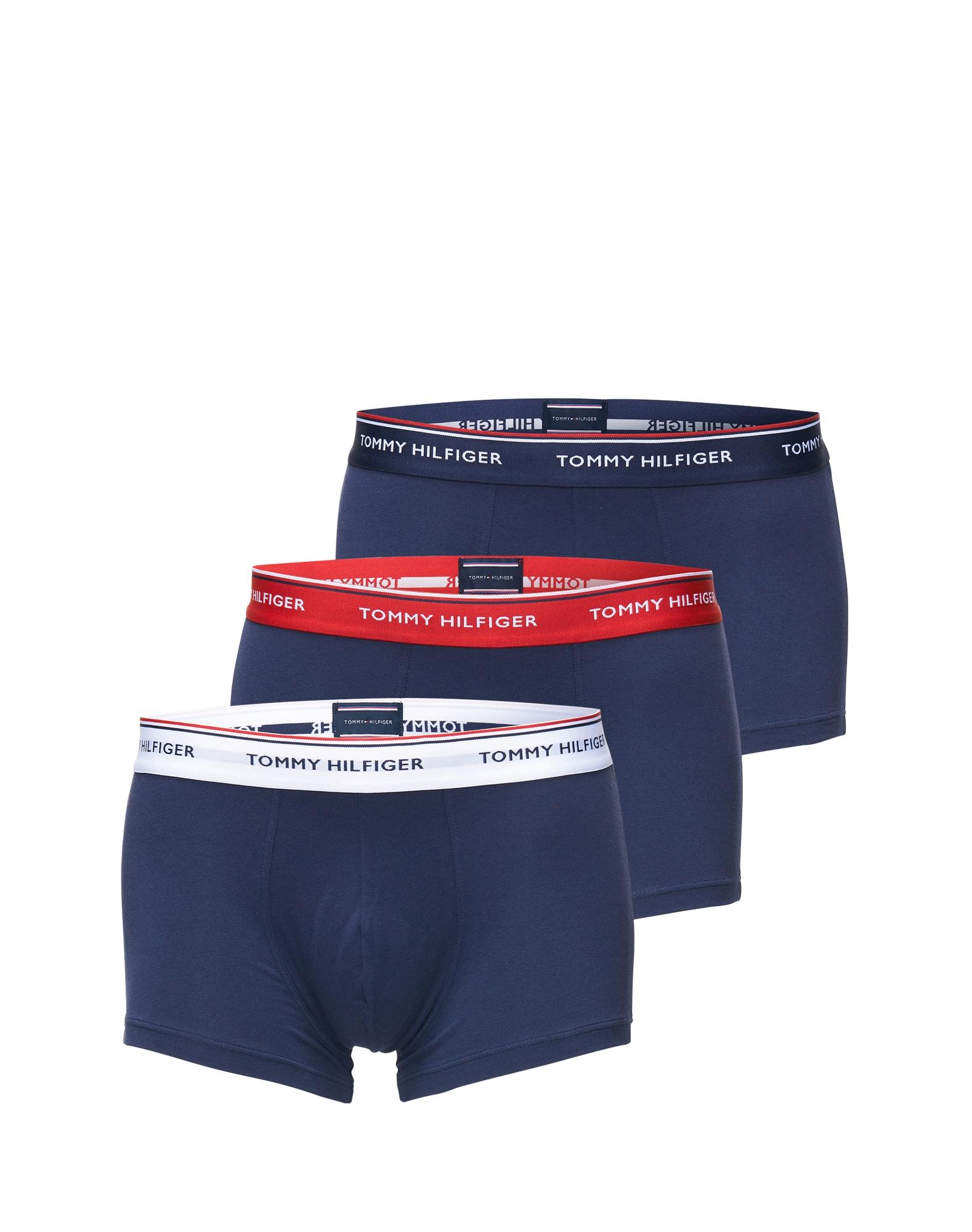 Boxerky 3P LR TRUNK tmavě modrá Tommy Hilfiger Underwear