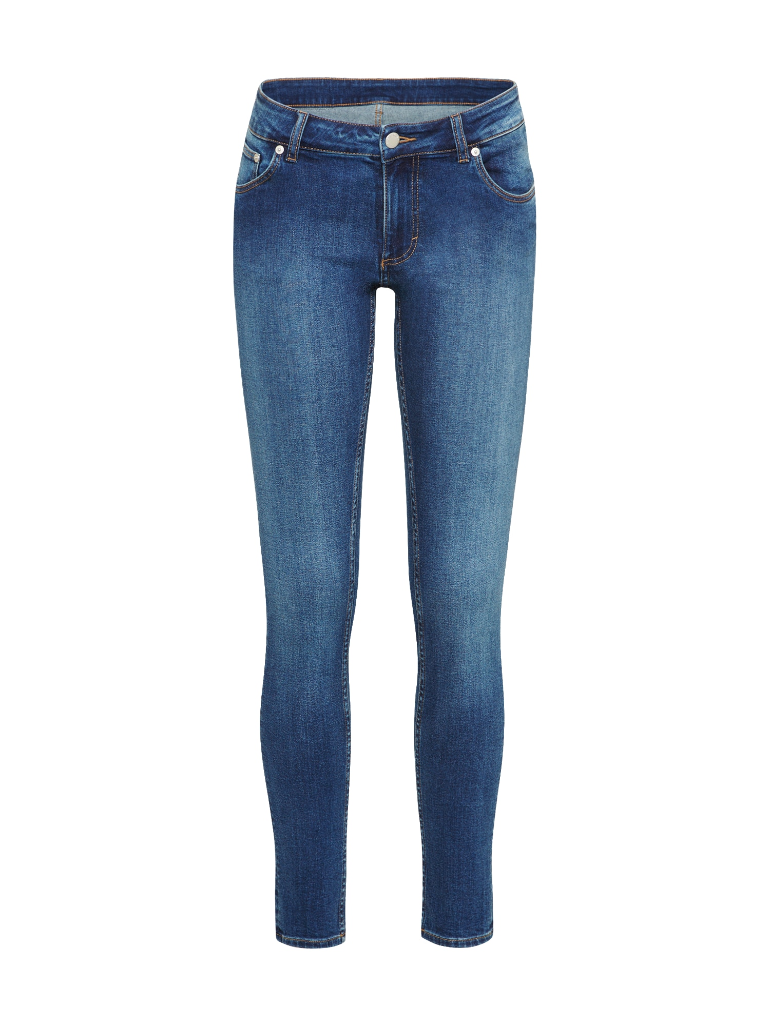 CHEAP MONDAY Dames Jeans Low Skin blue denim