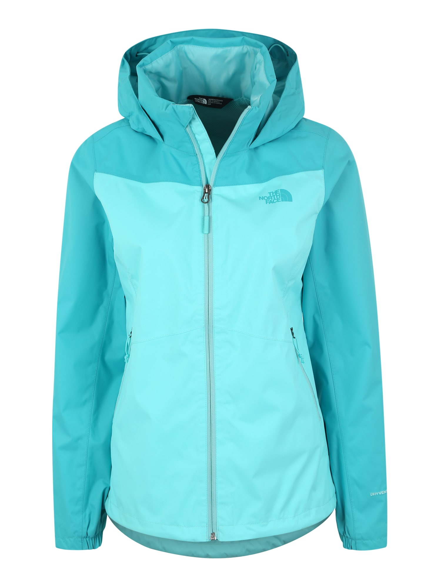 Sportovní bunda W RESOLVE PLUS JKT aqua modrá THE NORTH FACE