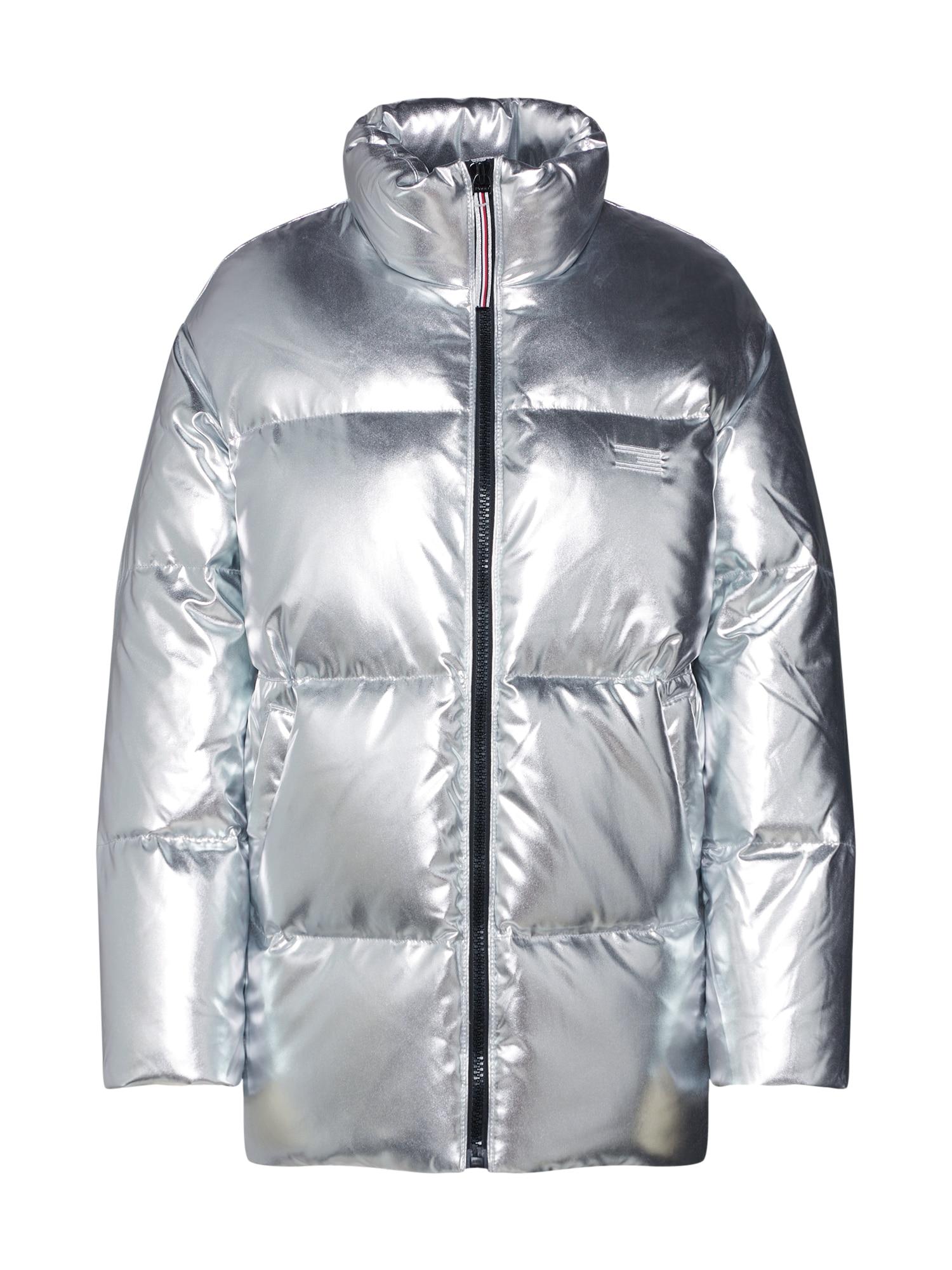 Zimní bunda stříbrná TOMMY HILFIGER