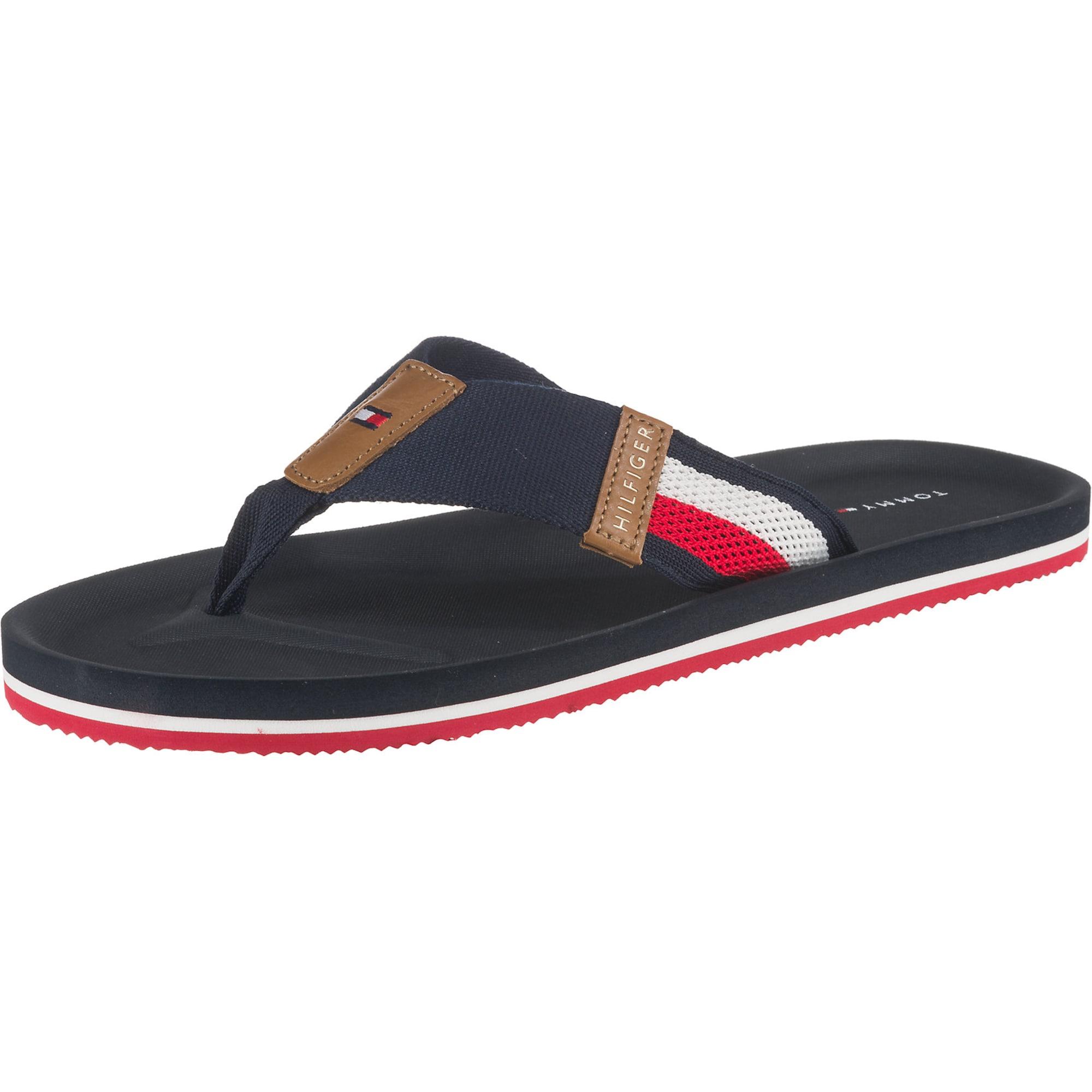 Zehentrenner 'Corporate'   Schuhe > Sandalen & Zehentrenner > Zehentrenner   Hellbraun - Weiß   Tommy Hilfiger