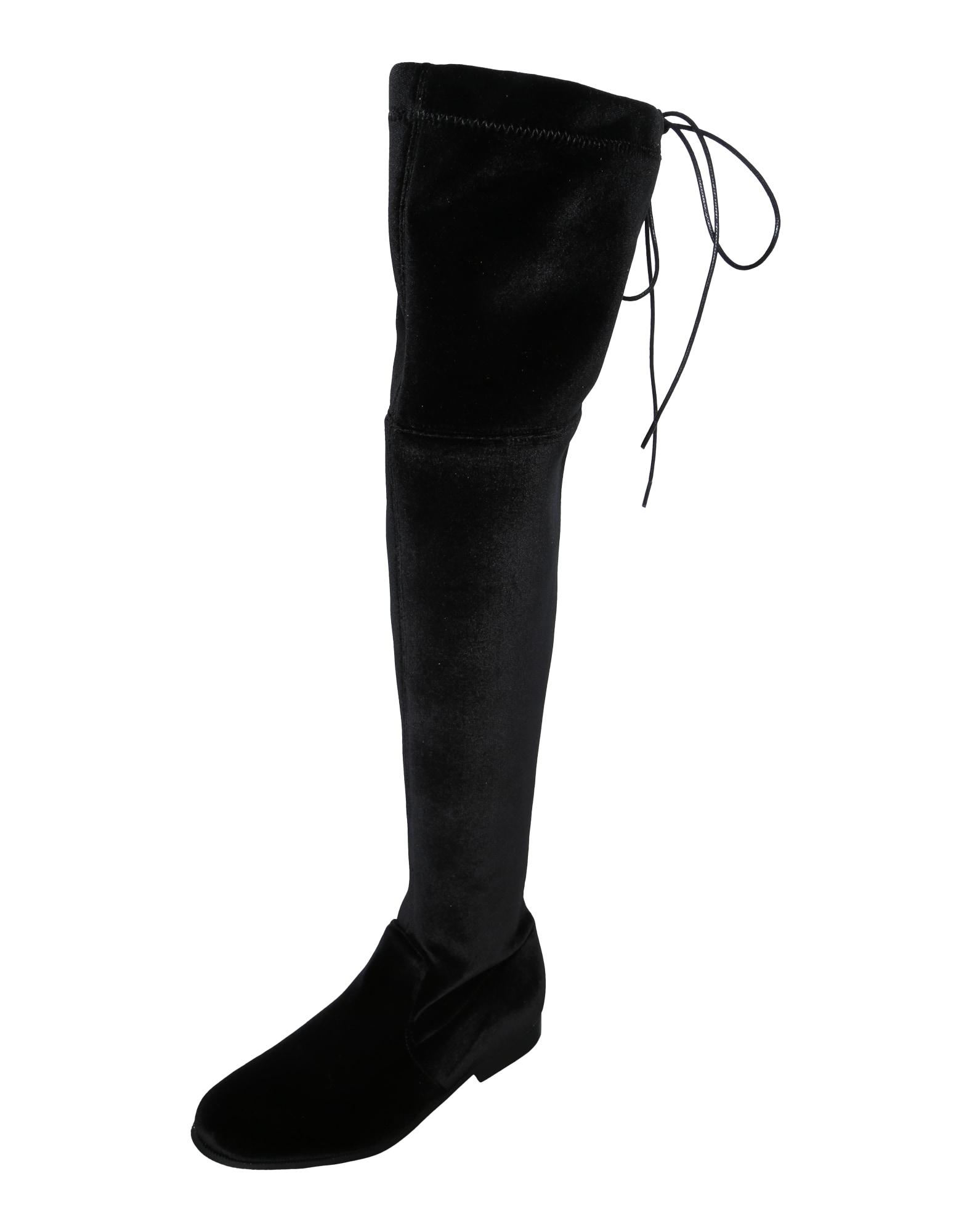 EDITED, Dames Overknee laarzen 'Florence', zwart