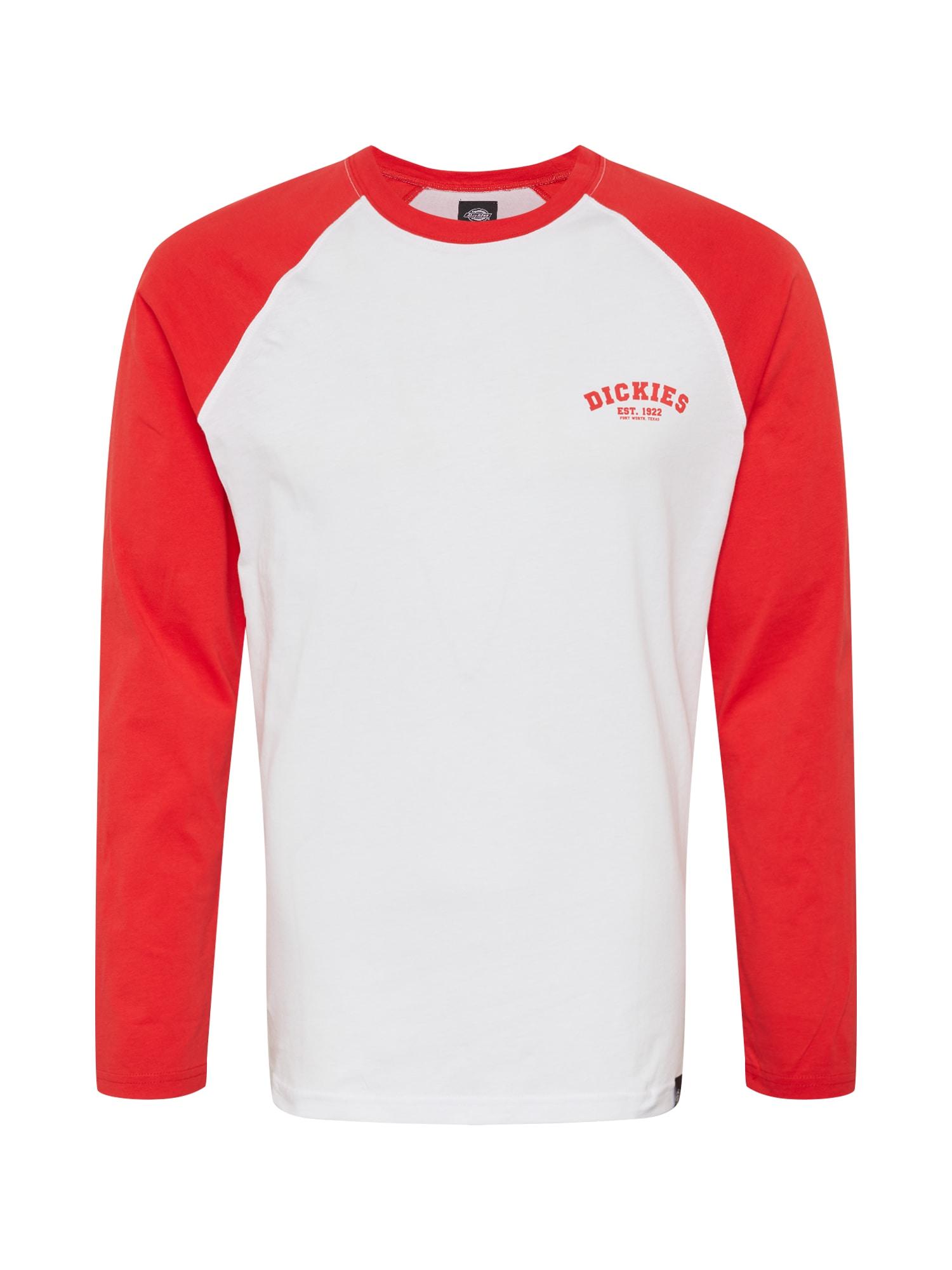 DICKIES Tričko 'Baseball'  červená / bílá