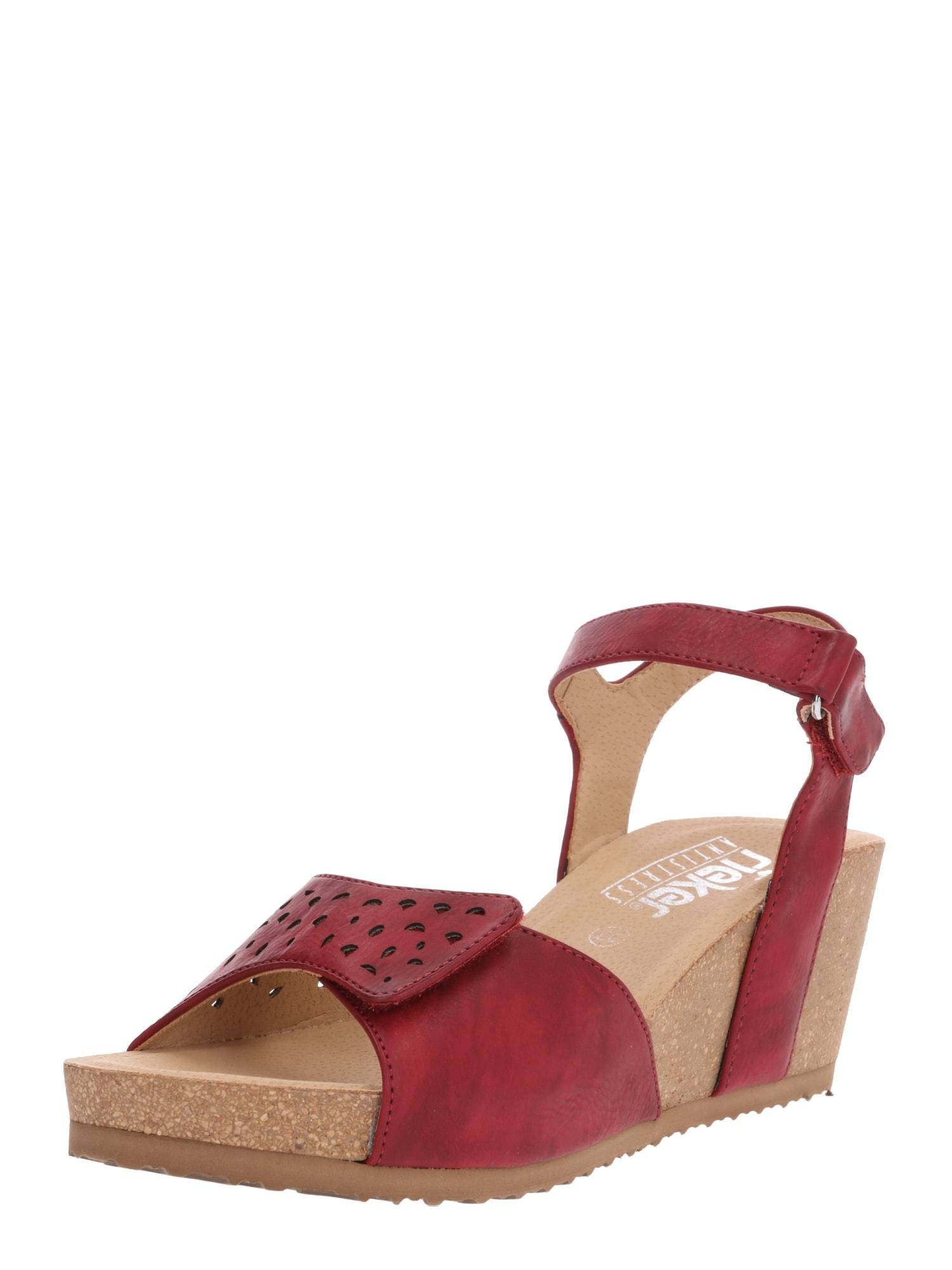 Sandály V8355-35 krvavě červená RIEKER
