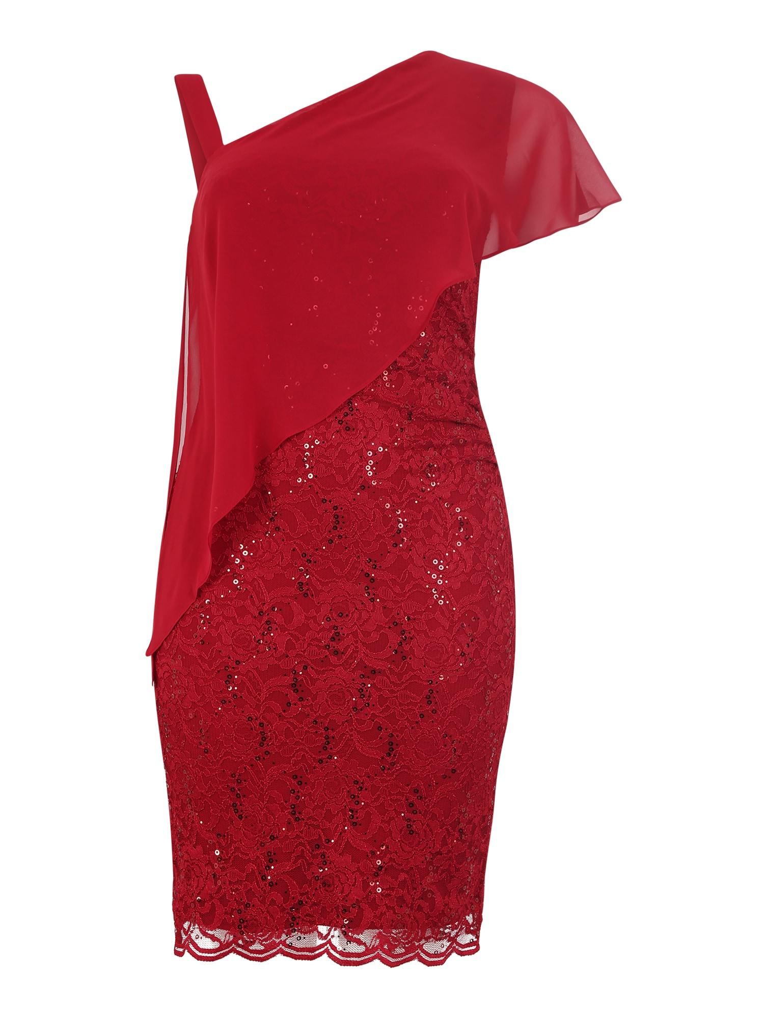Pouzdrové šaty vínově červená SWING Curve