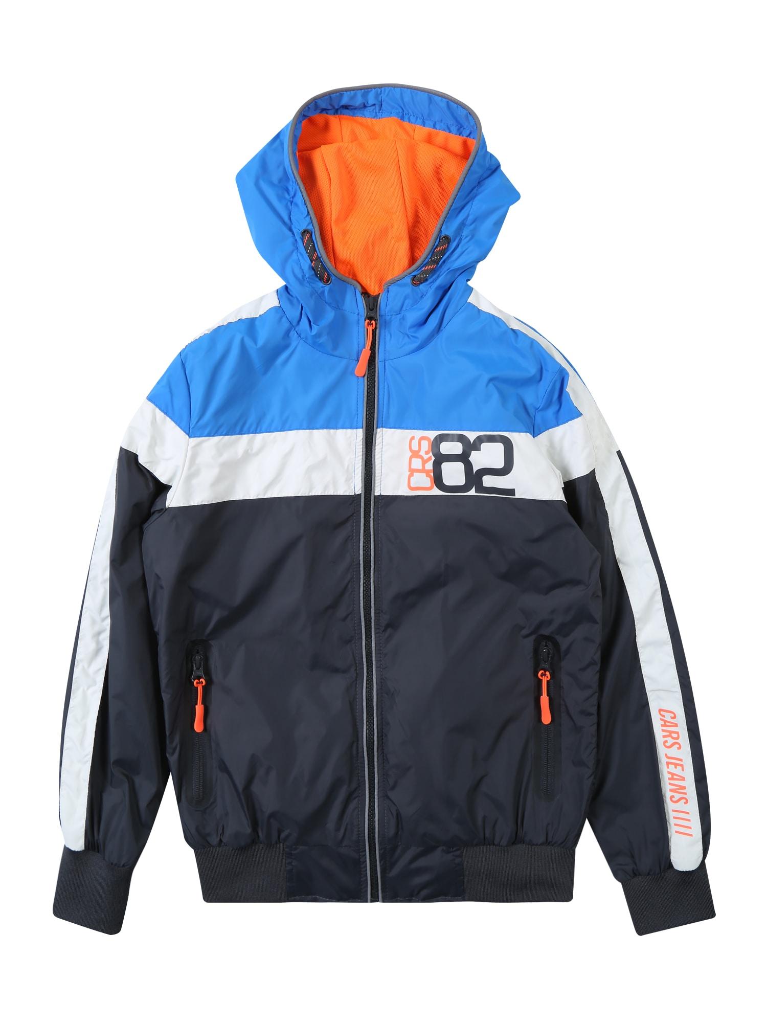 Přechodná bunda BRASH ANTRA modrá šedá tmavě oranžová Cars Jeans