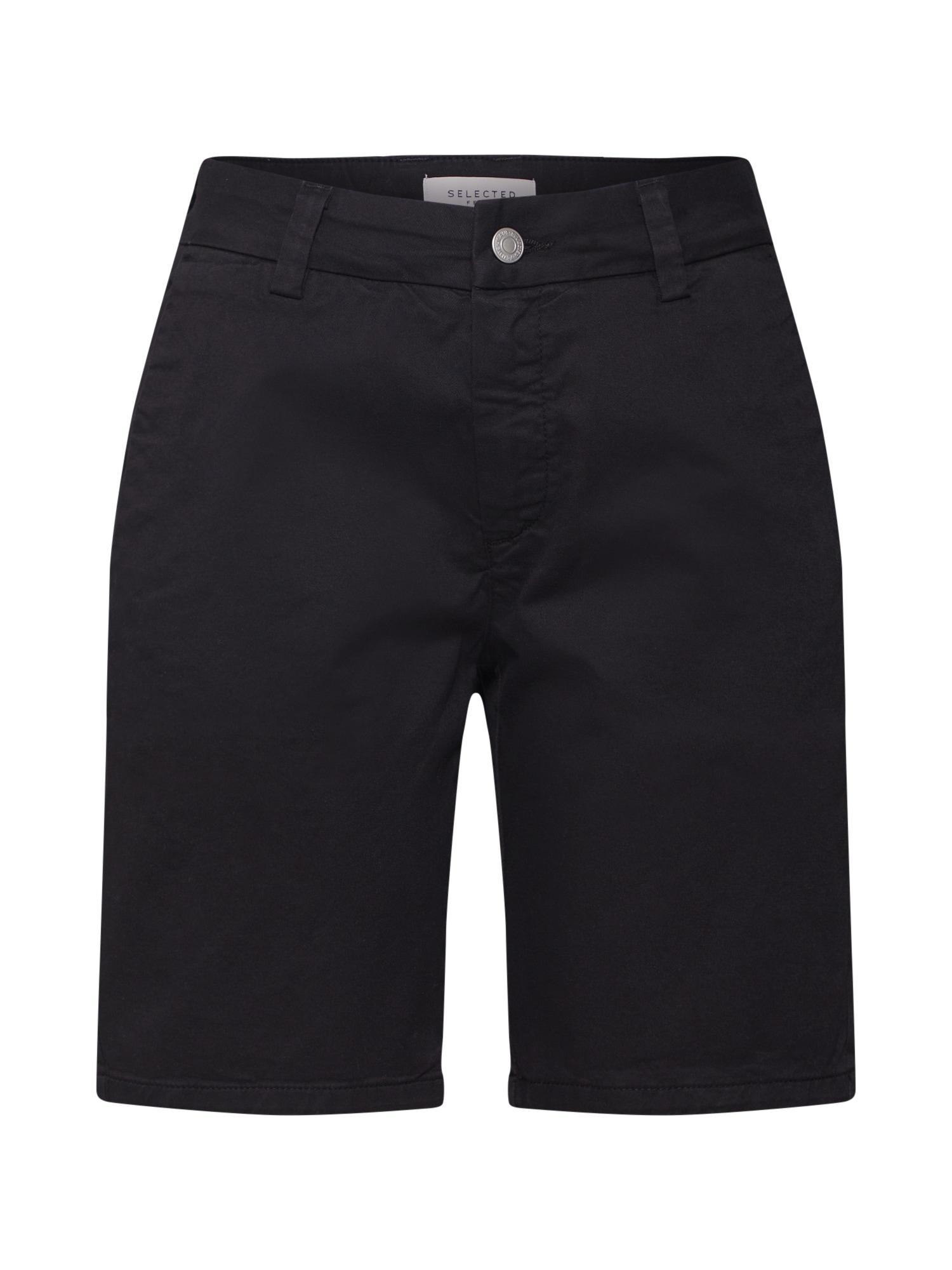 Chino kalhoty MEGAN černá SELECTED FEMME