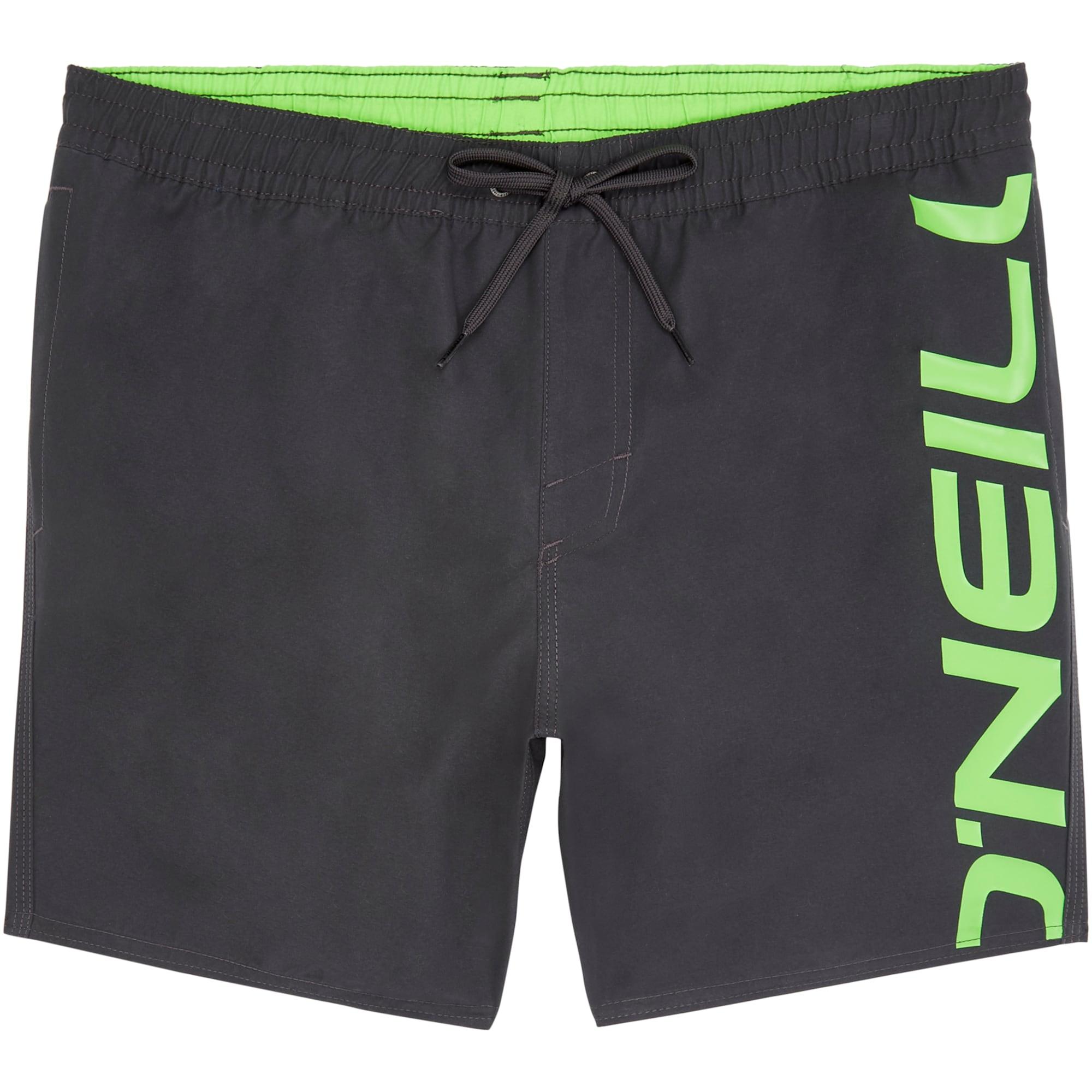 ONEILL Plavecké šortky Cali antracitová svítivě zelená O'NEILL