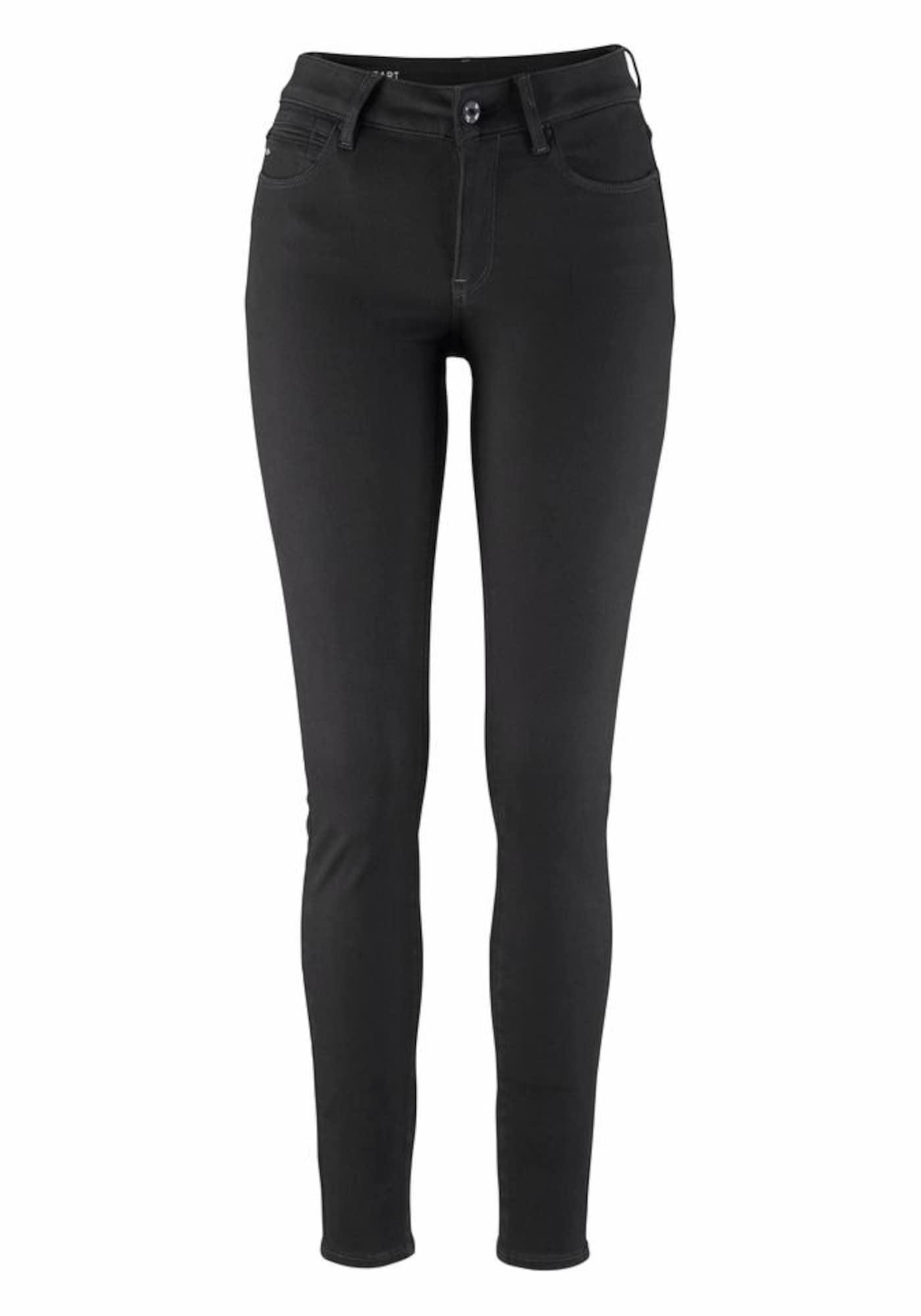 G-STAR RAW Dames Jeans Shape High Super Skinny zwart