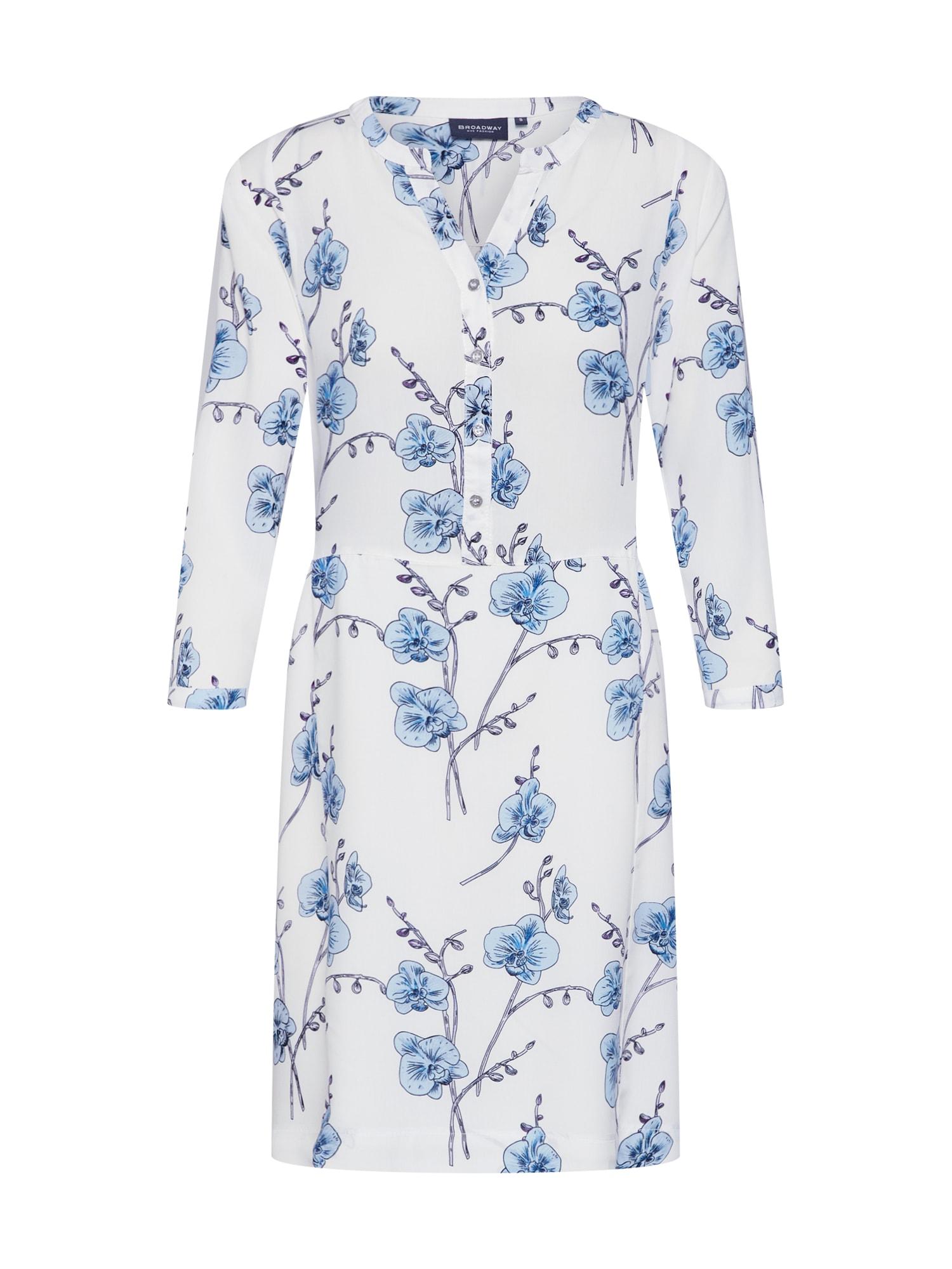 Letní šaty PHOBY modrá bílá BROADWAY NYC FASHION
