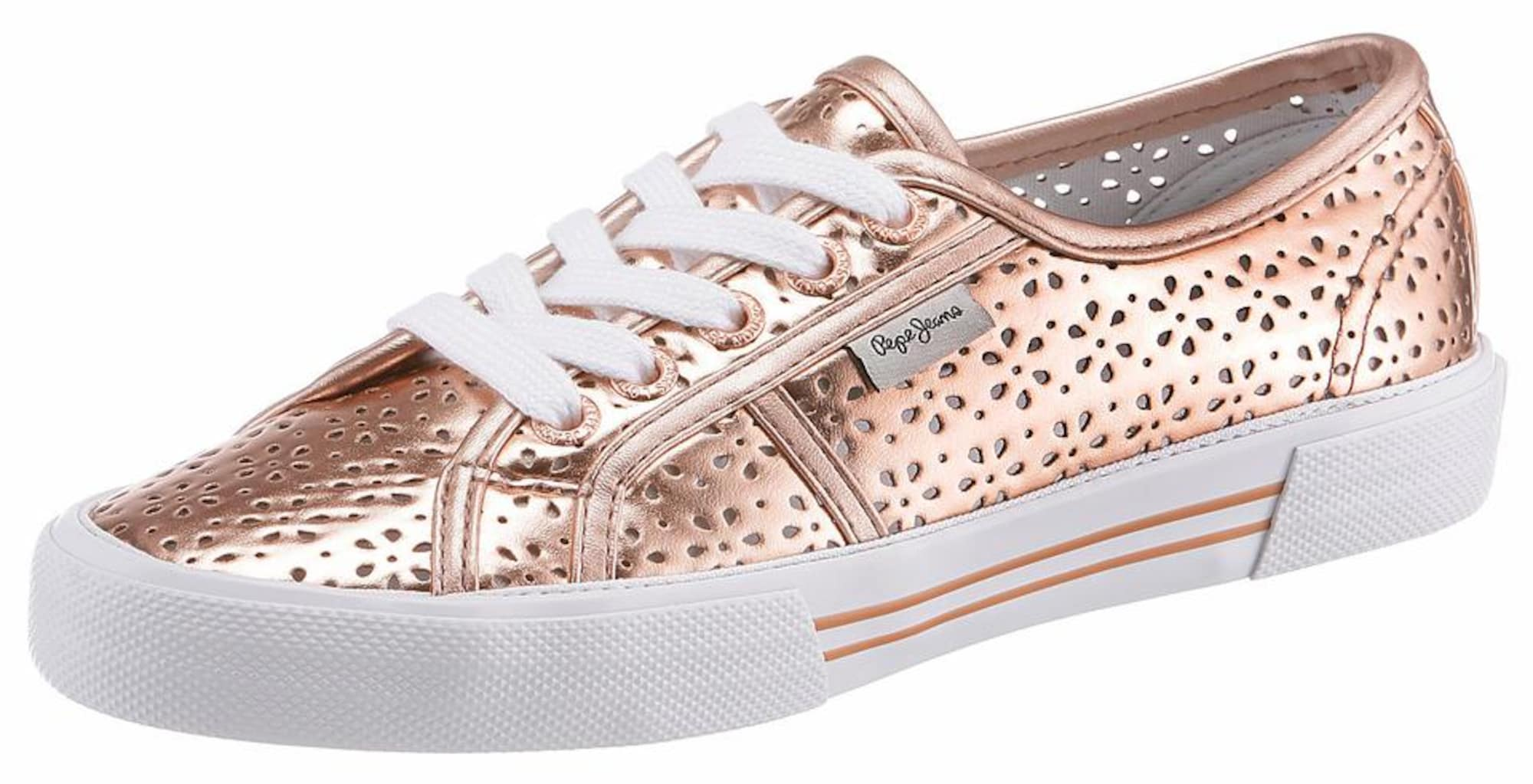 Pepe Jeans Dames Sneakers laag ABERLADY DAISY rose-goud