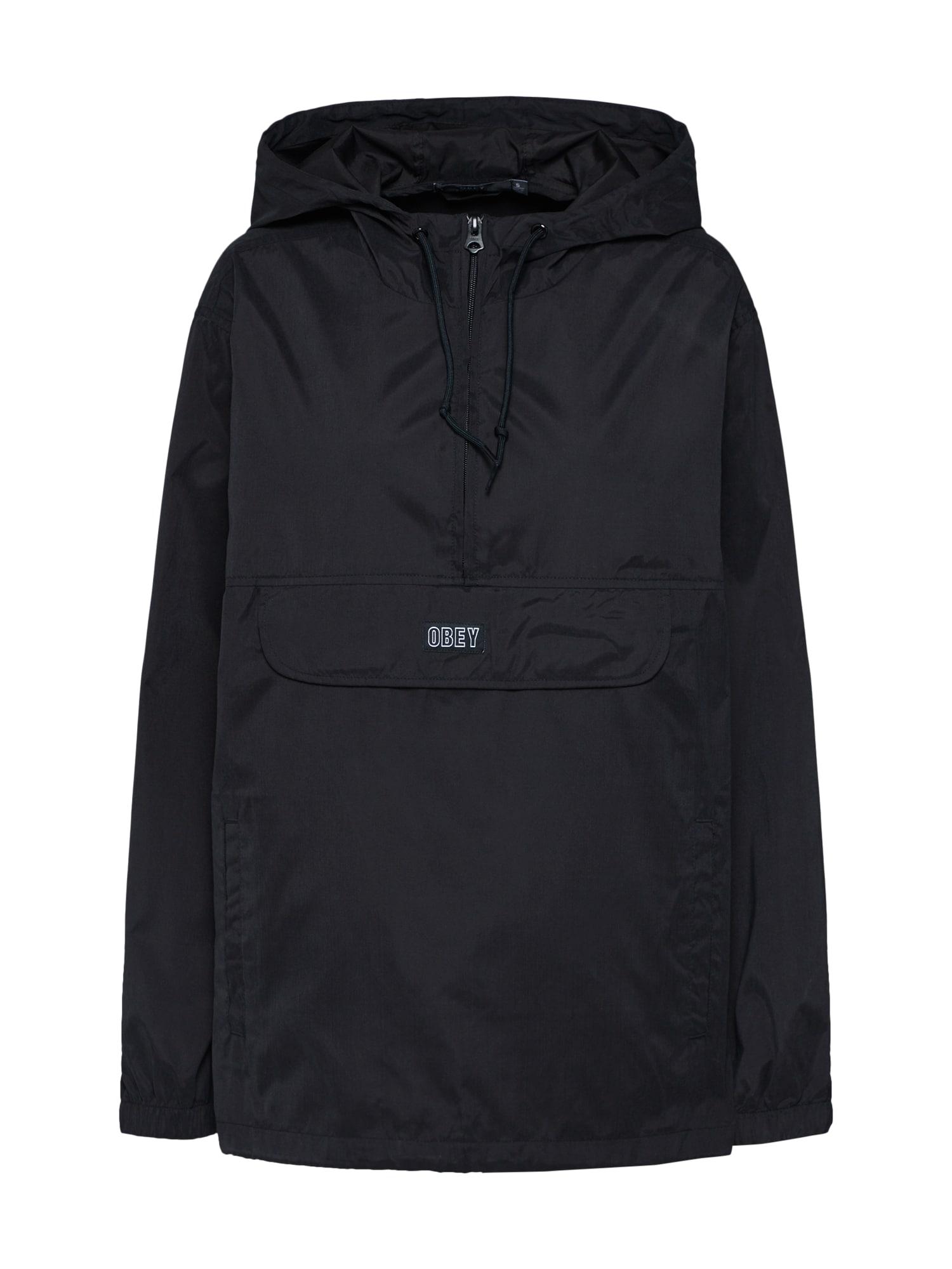 Obey Prechodná bunda 'SIENNA ANORAK'  čierna
