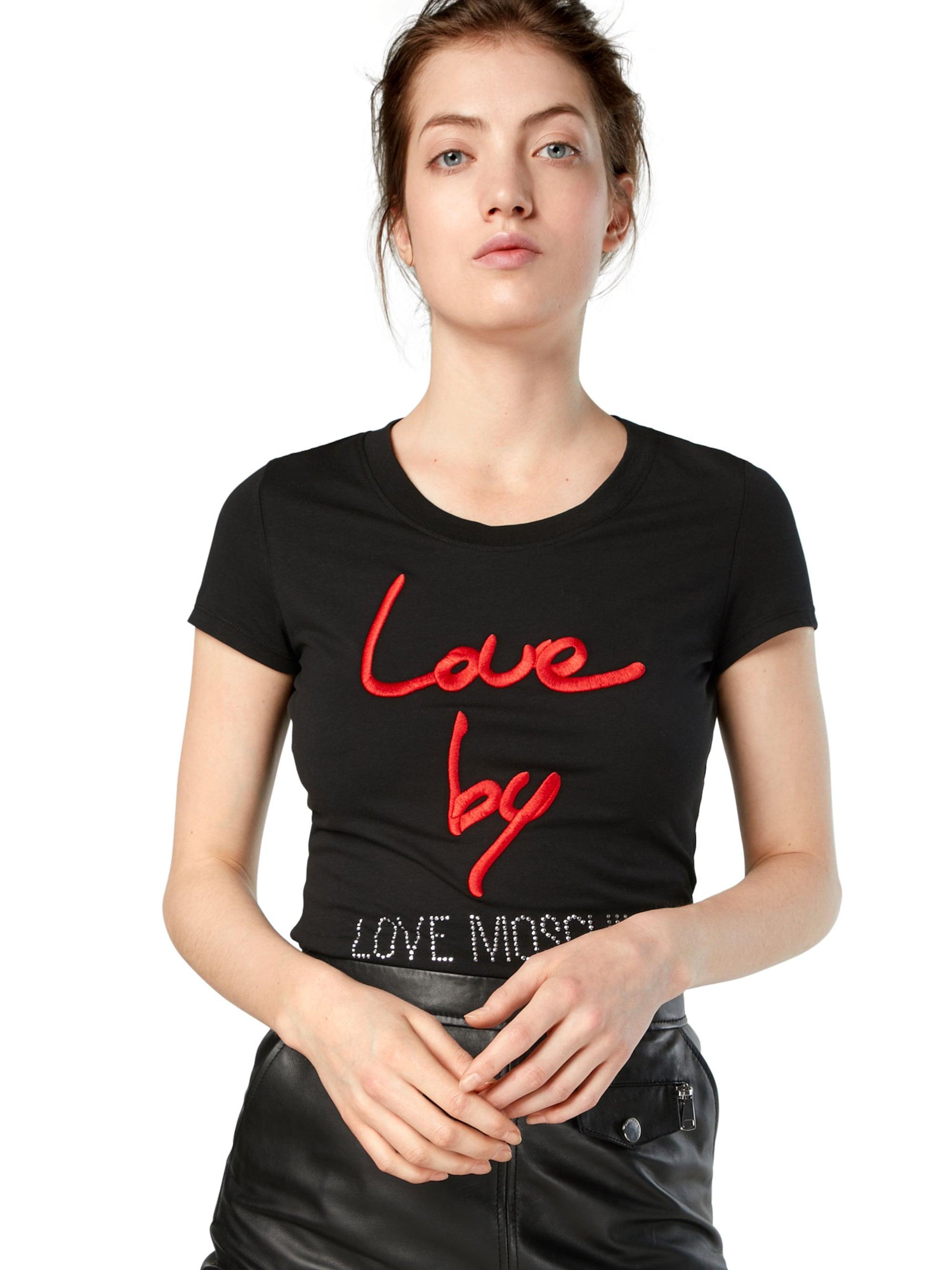 Love Moschino Koszulka  czerwony / czarny