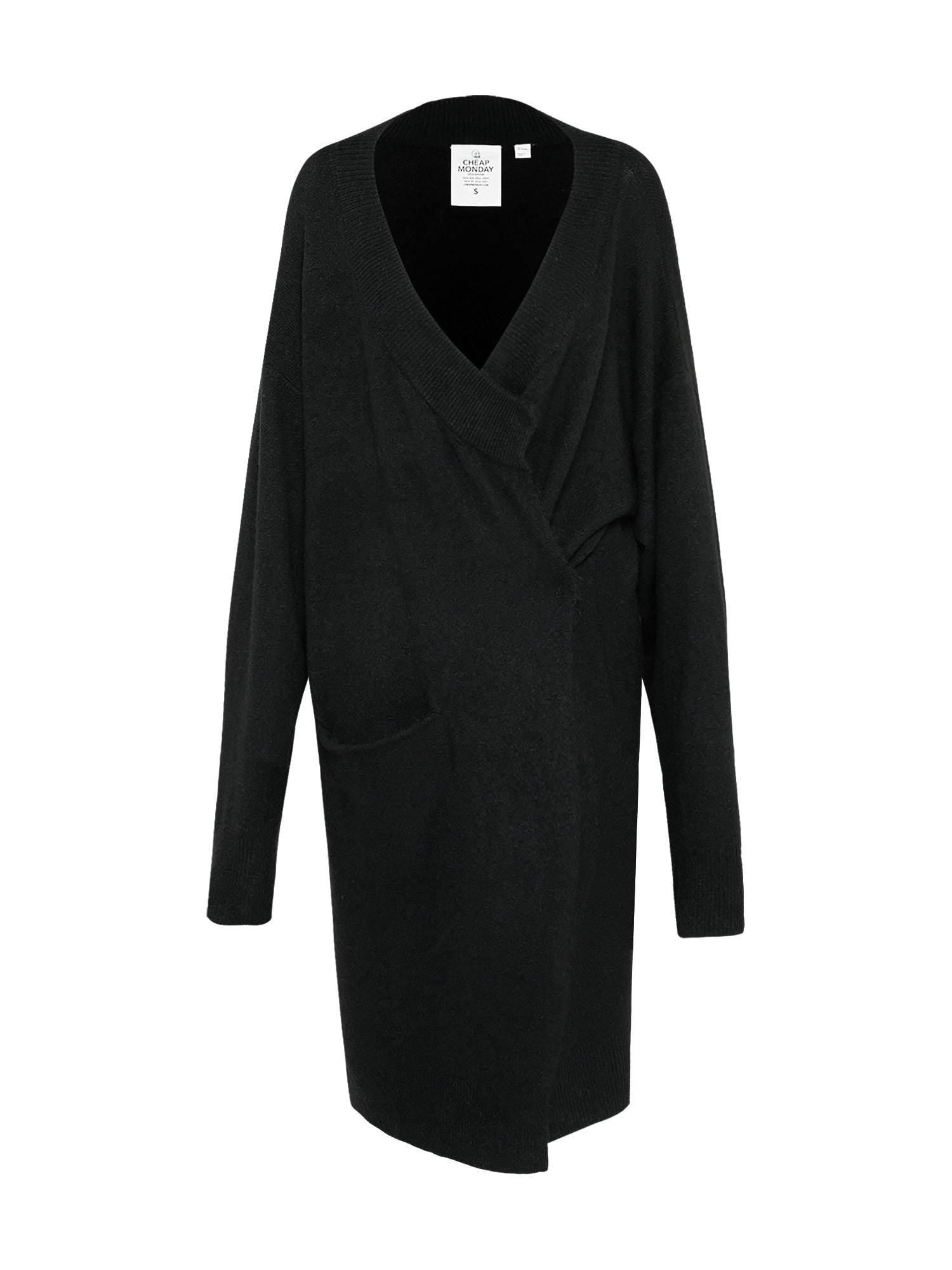 CHEAP MONDAY Dames Oversized vest Regard zwart
