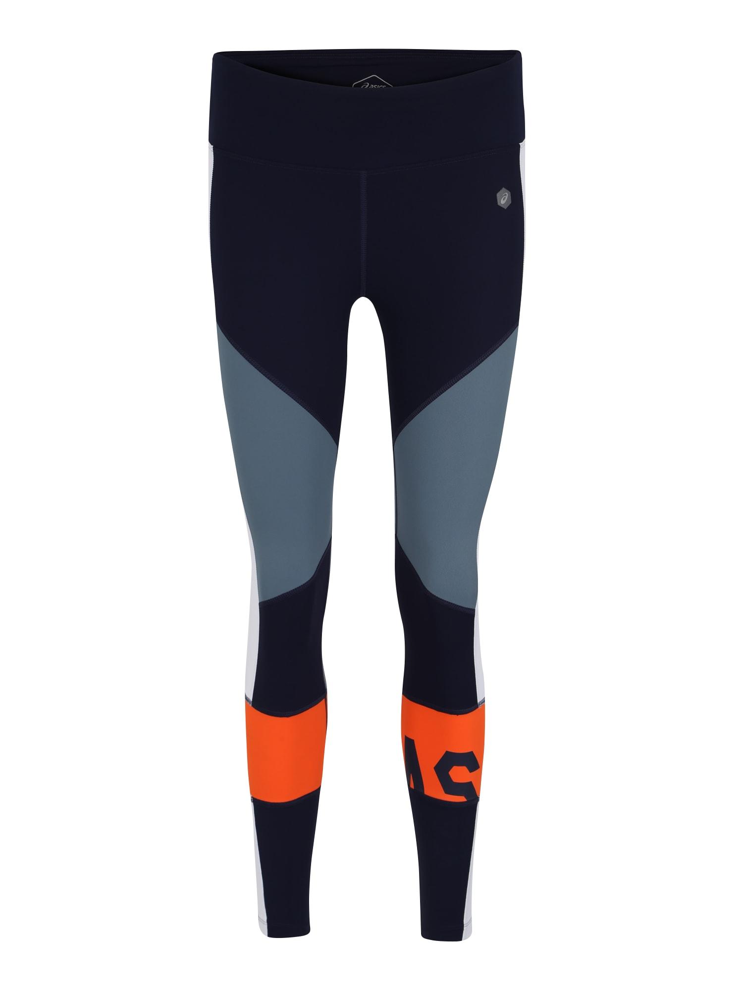Sportovní kalhoty modrá šedá oranžová ASICS