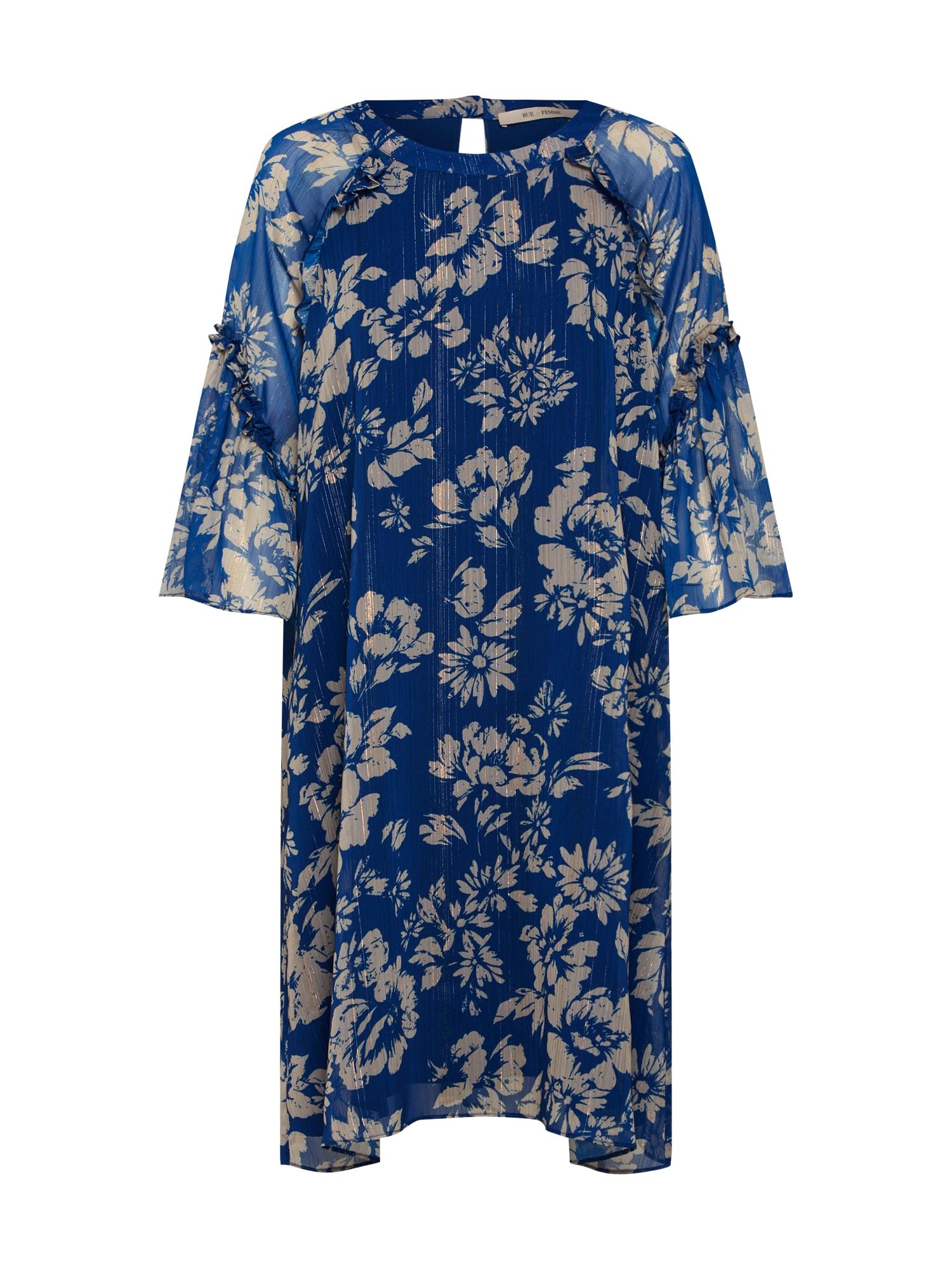 Šaty Viva béžová modrá RUE De FEMME
