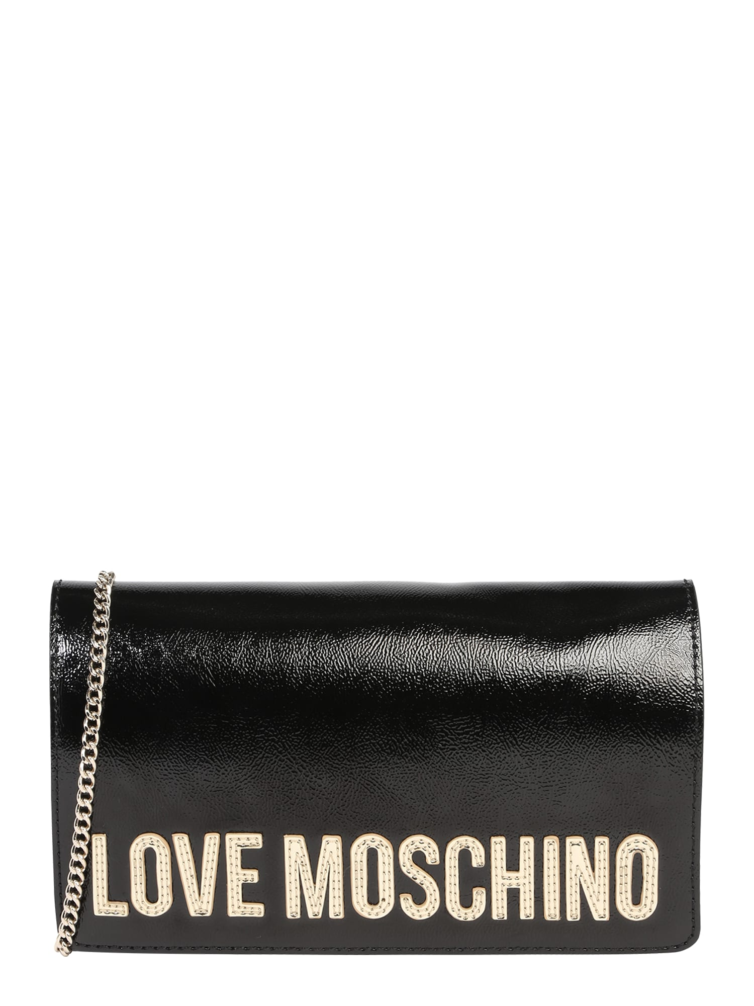 Taška přes rameno BORSA METALLIC PU NERO černá Love Moschino