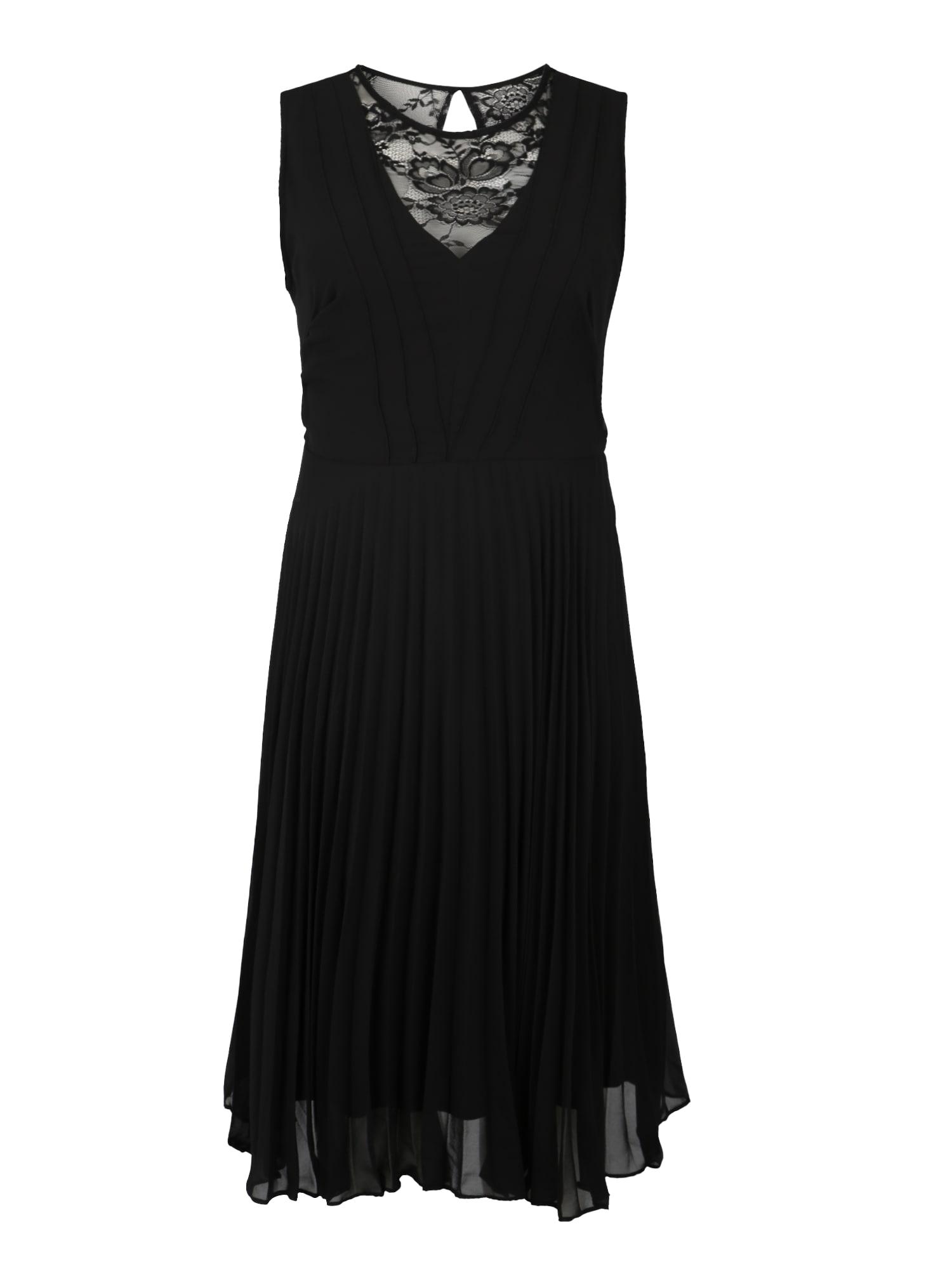 Koktejlové šaty XAMALIE SL DRESS černá Zizzi