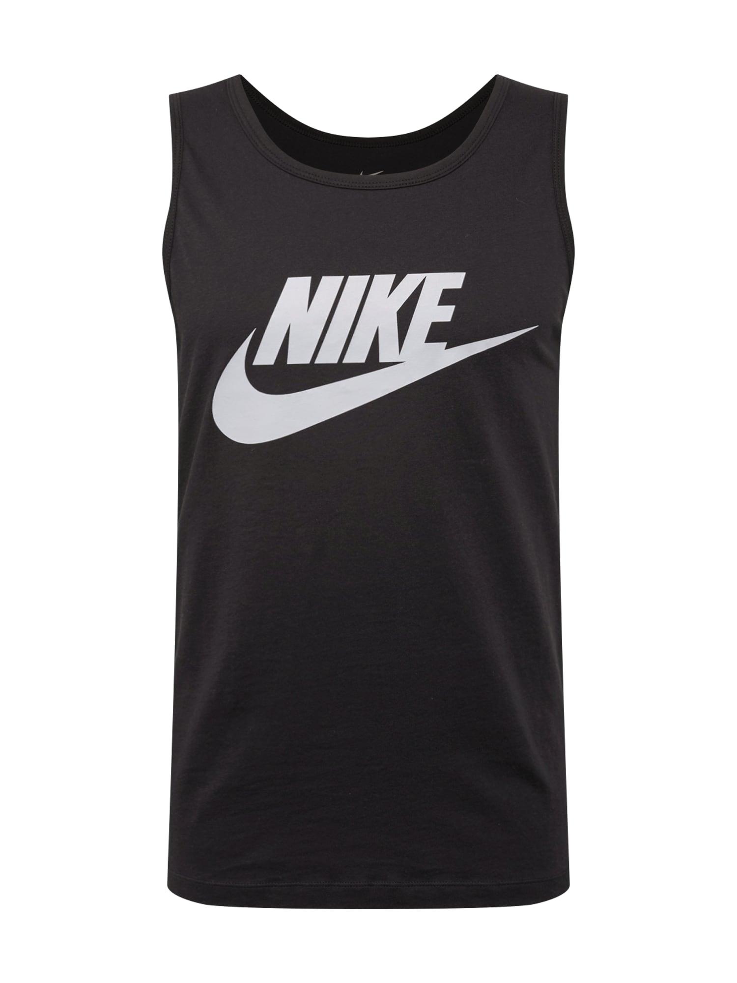 Tričko světle šedá černá Nike Sportswear