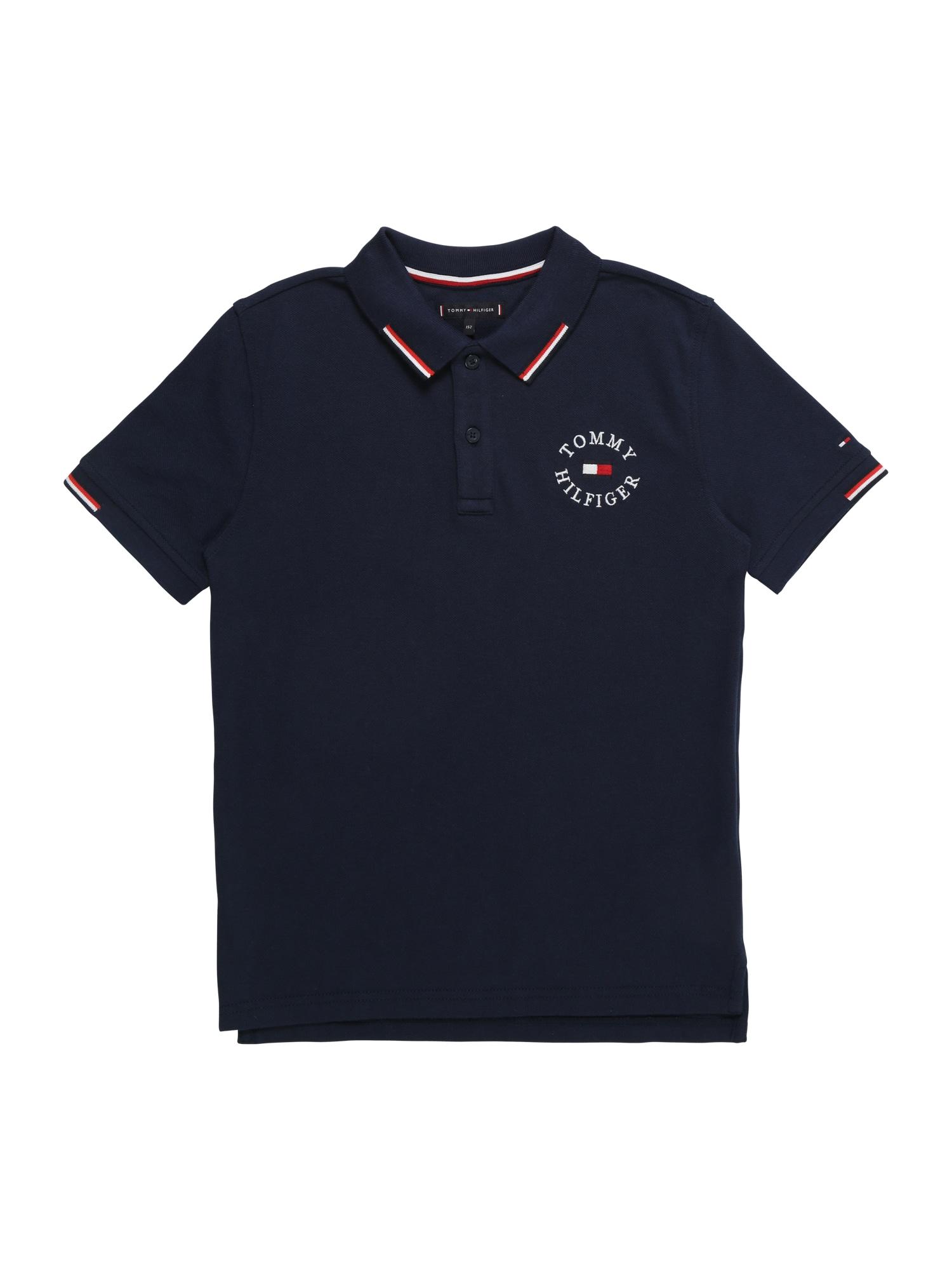 Tričko ultramarínová modř červená bílá TOMMY HILFIGER