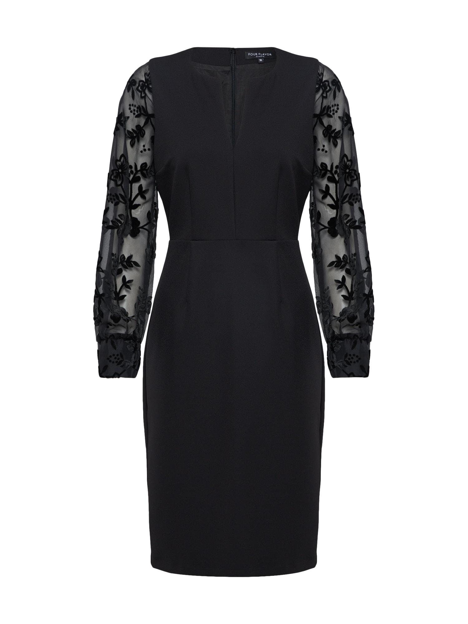 Koktejlové šaty černá Four Flavor