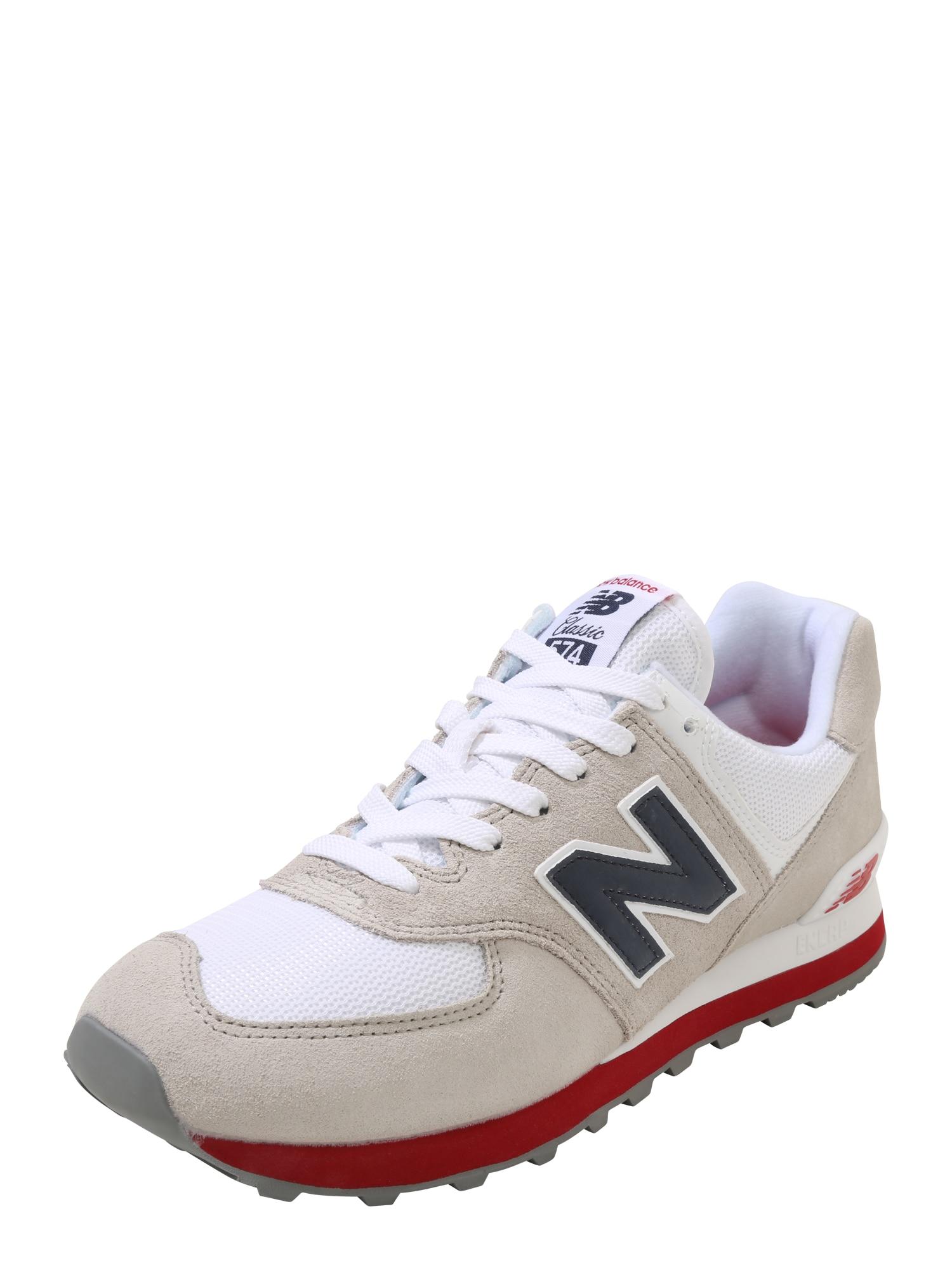 New Balance Nízke tenisky 'ML574'  farba ťavej srsti / ohnivo červená / čierna / biela