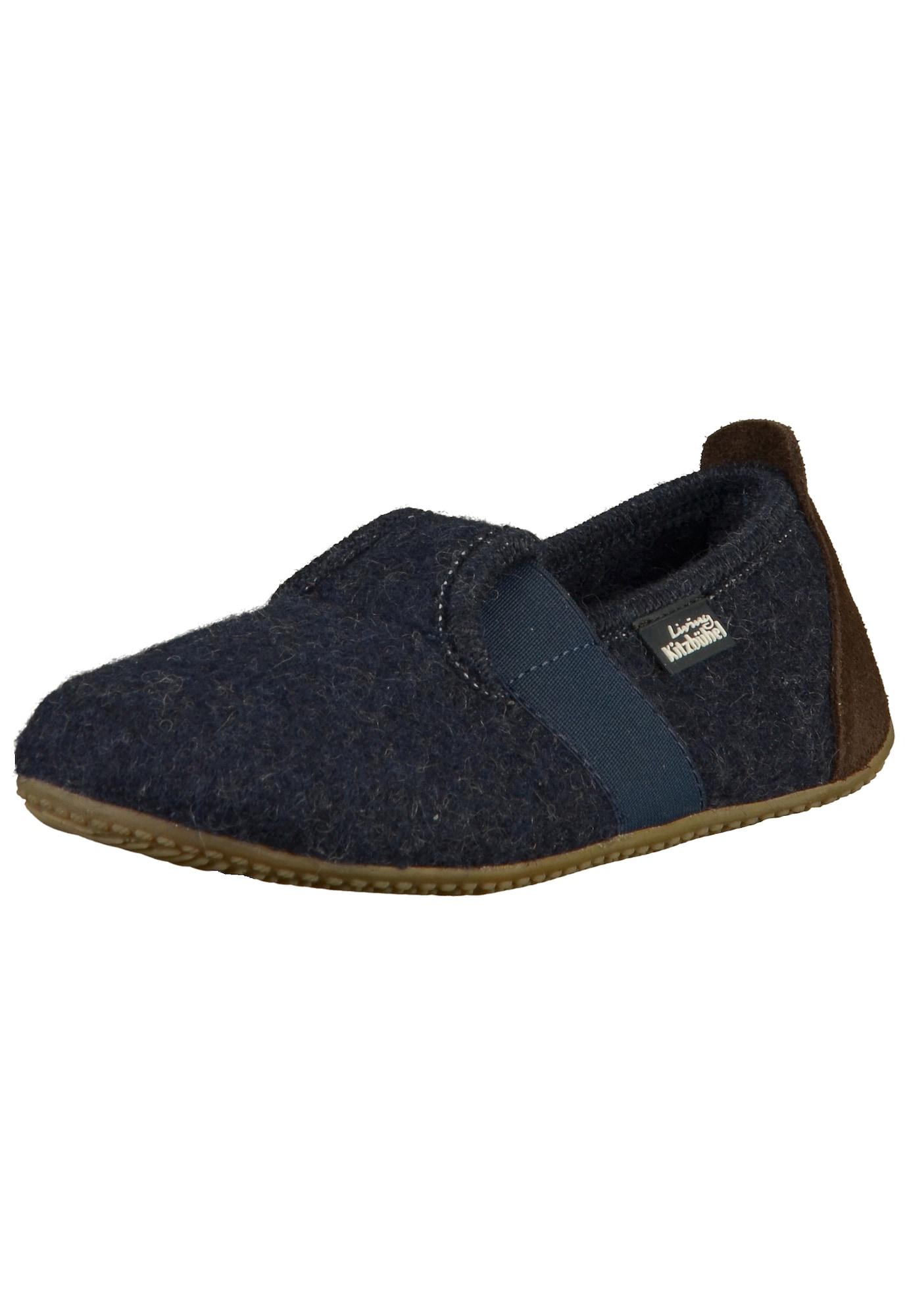 Pantofle noční modrá tmavě hnědá Living Kitzbühel