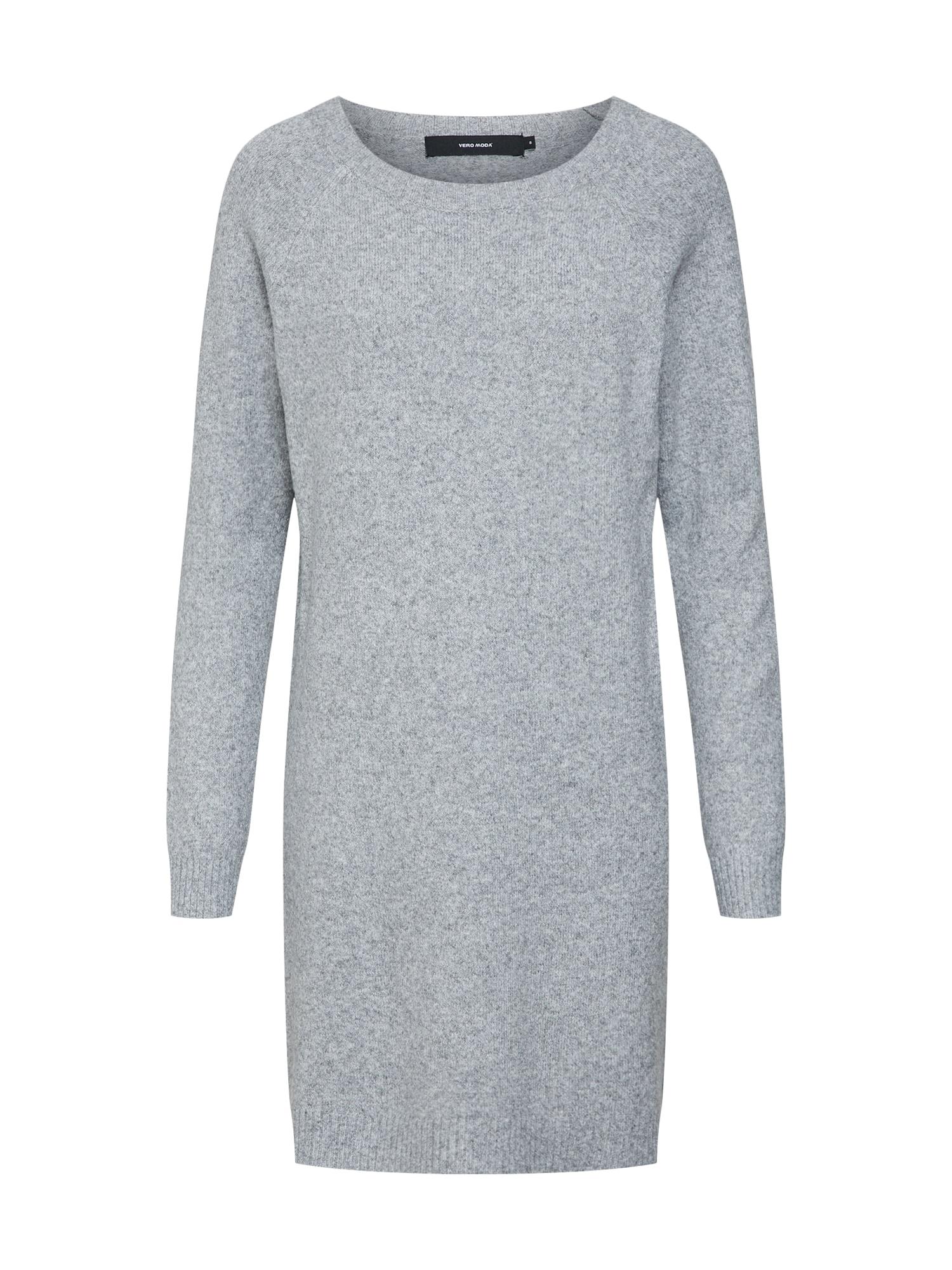 Úpletové šaty šedý melír VERO MODA