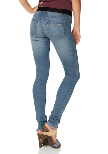 #ARIZONA #Damen #Jeansjeggings #´Gummizug-Bund´ #blue #denim