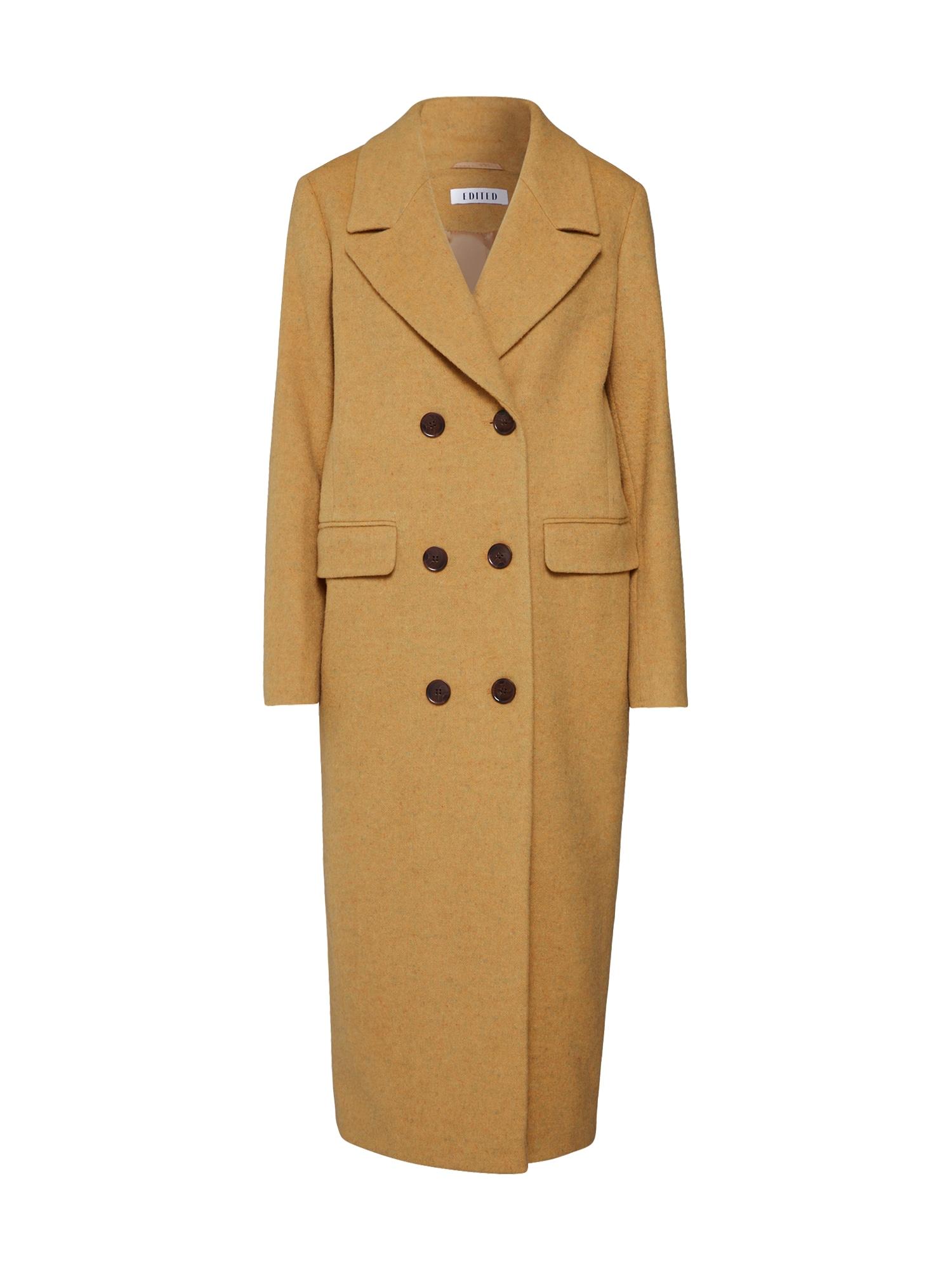 Zimní kabát Bristol hořčicová EDITED