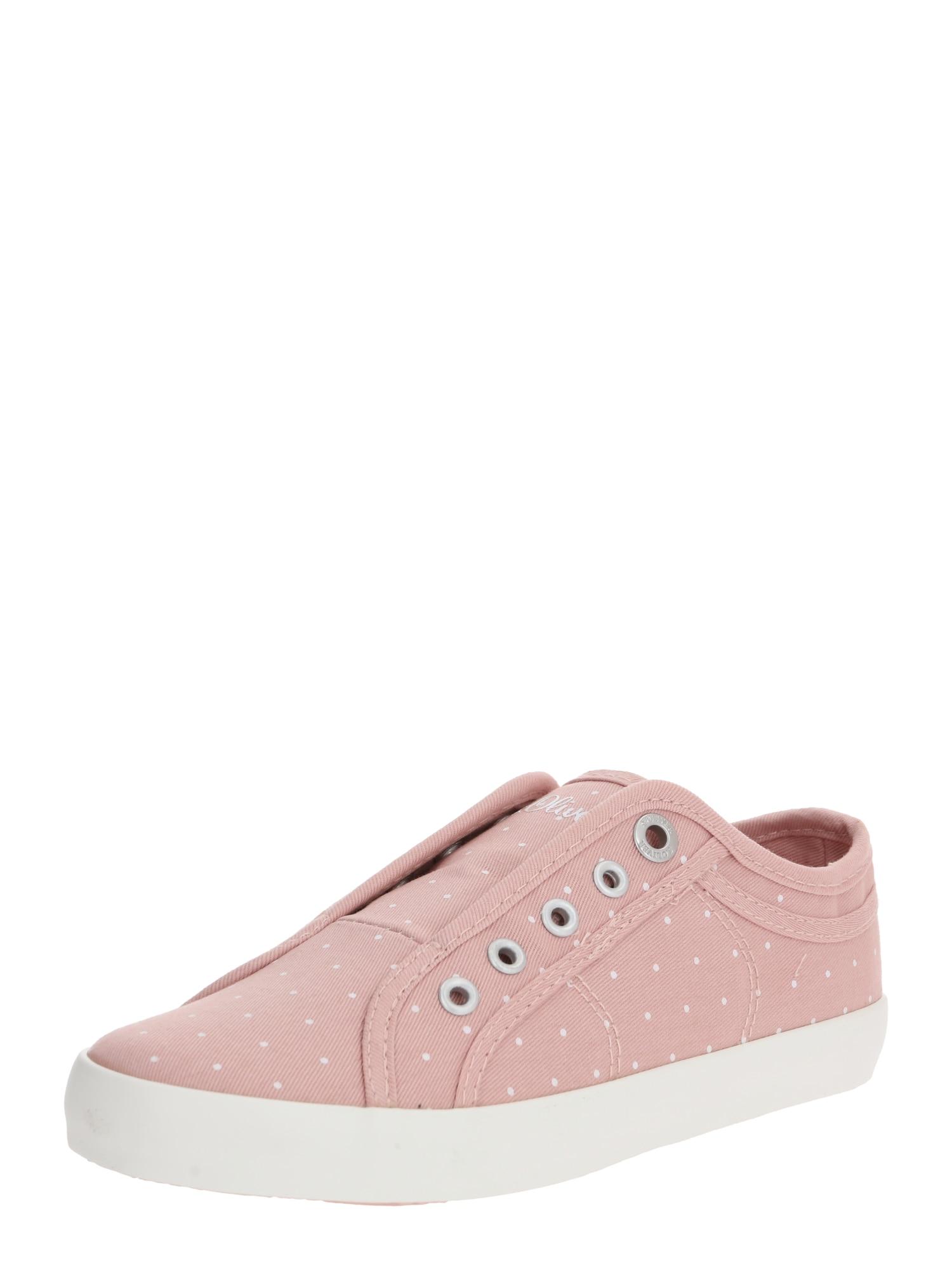 S.Oliver Slip on boty  růžová