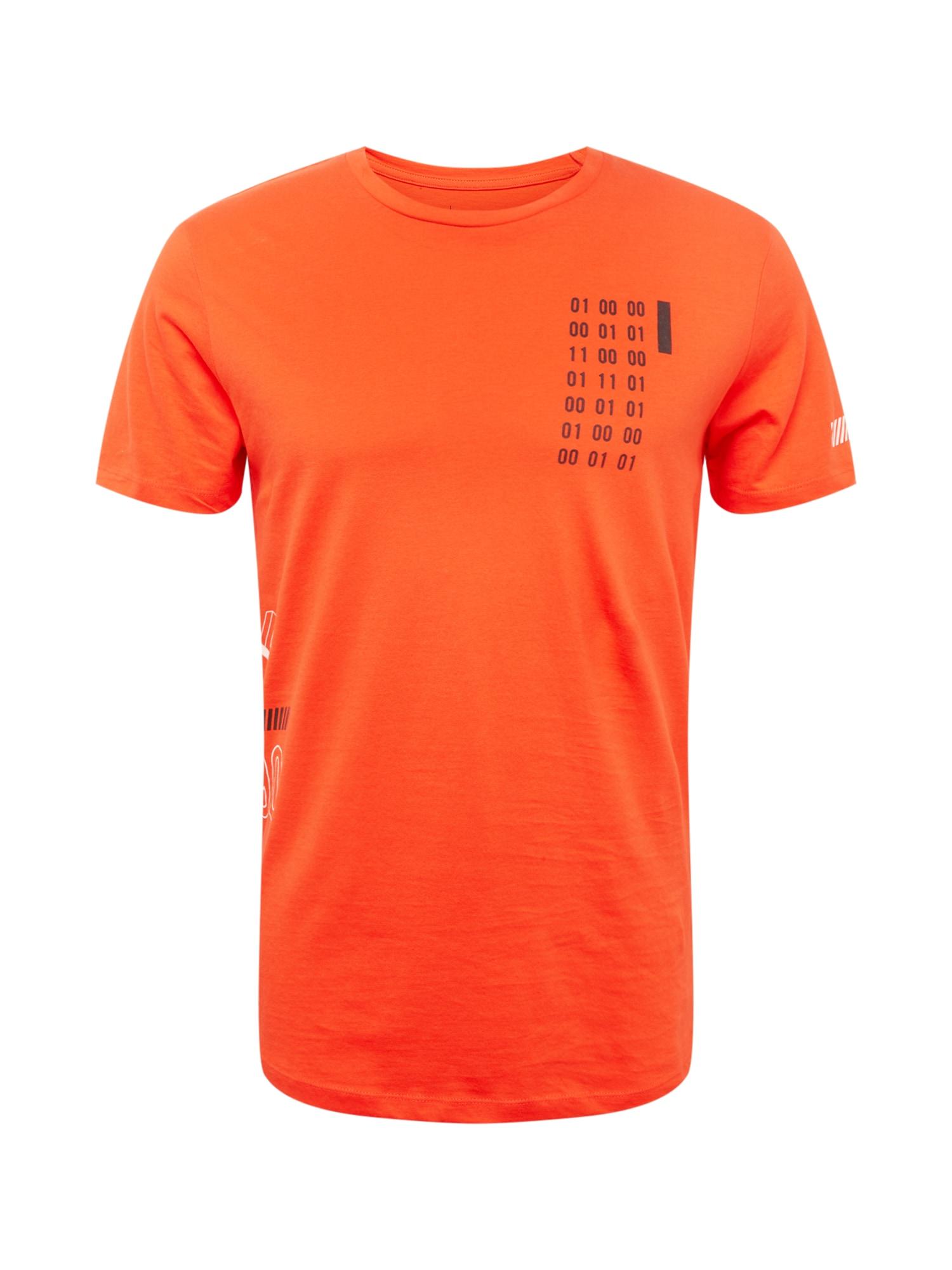 Tričko BOOSTER FUT oranžově červená černá bílá JACK & JONES