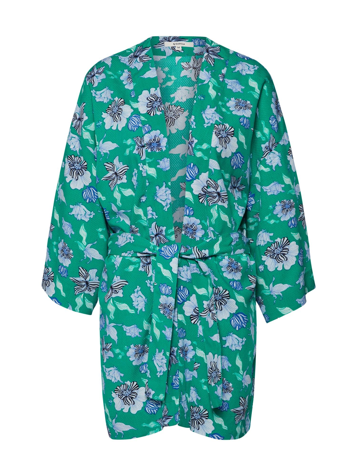 Kimono modrá tyrkysová zelená GARCIA