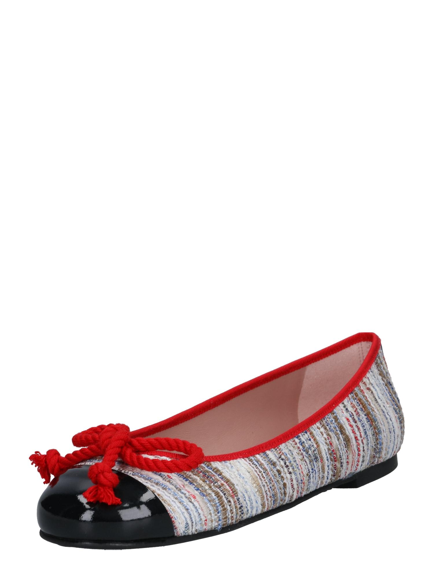 Baleríny béžová červená černá PRETTY BALLERINAS