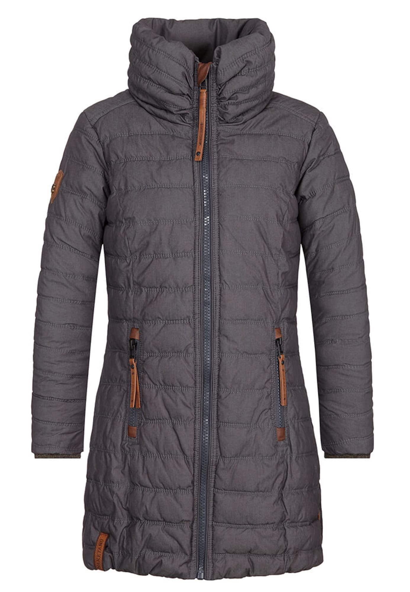 Zimní kabát tmavě modrá bronzová Naketano