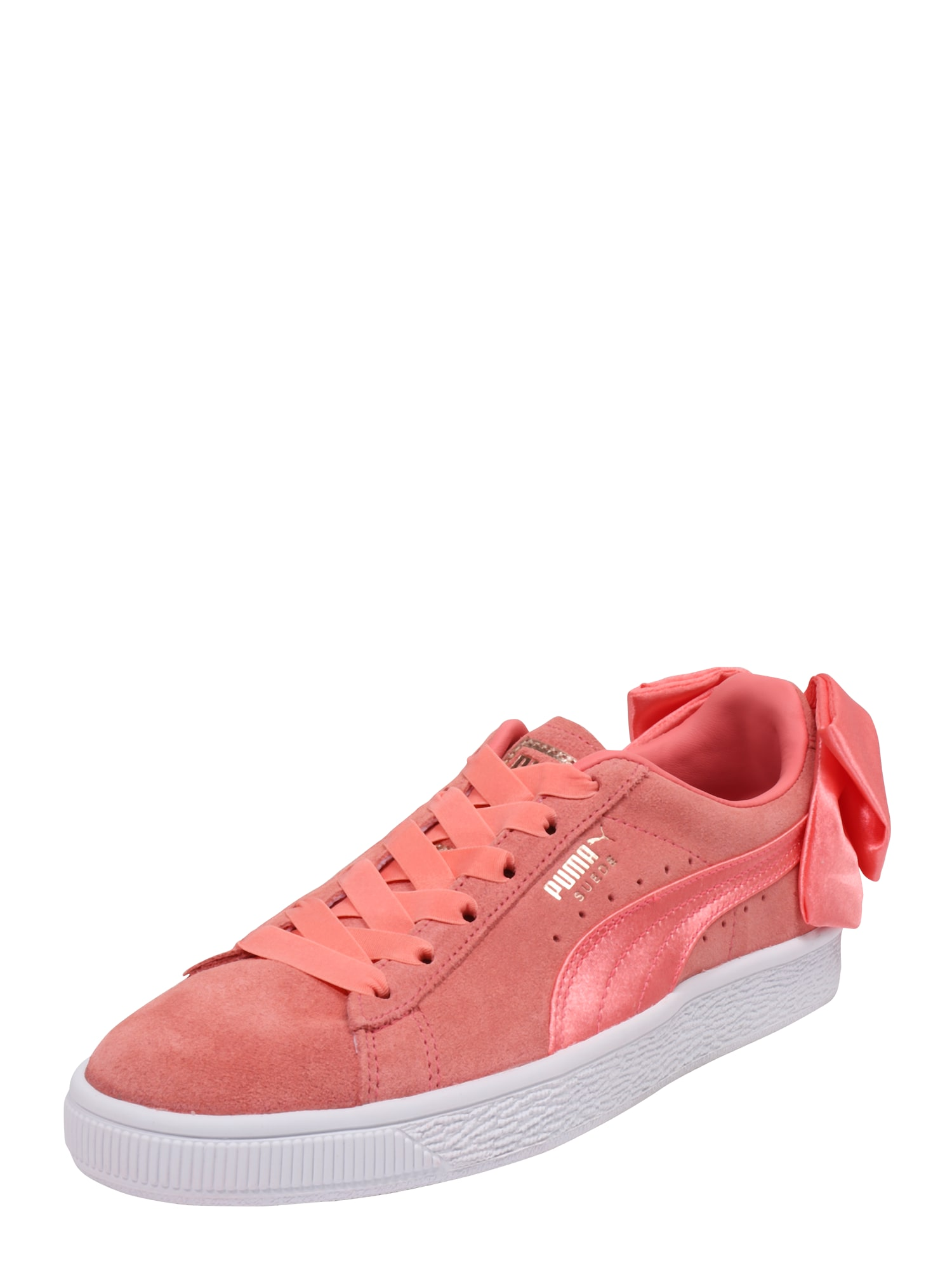 PUMA, Dames Sneakers laag 'Suede Bow', pink / oranjerood
