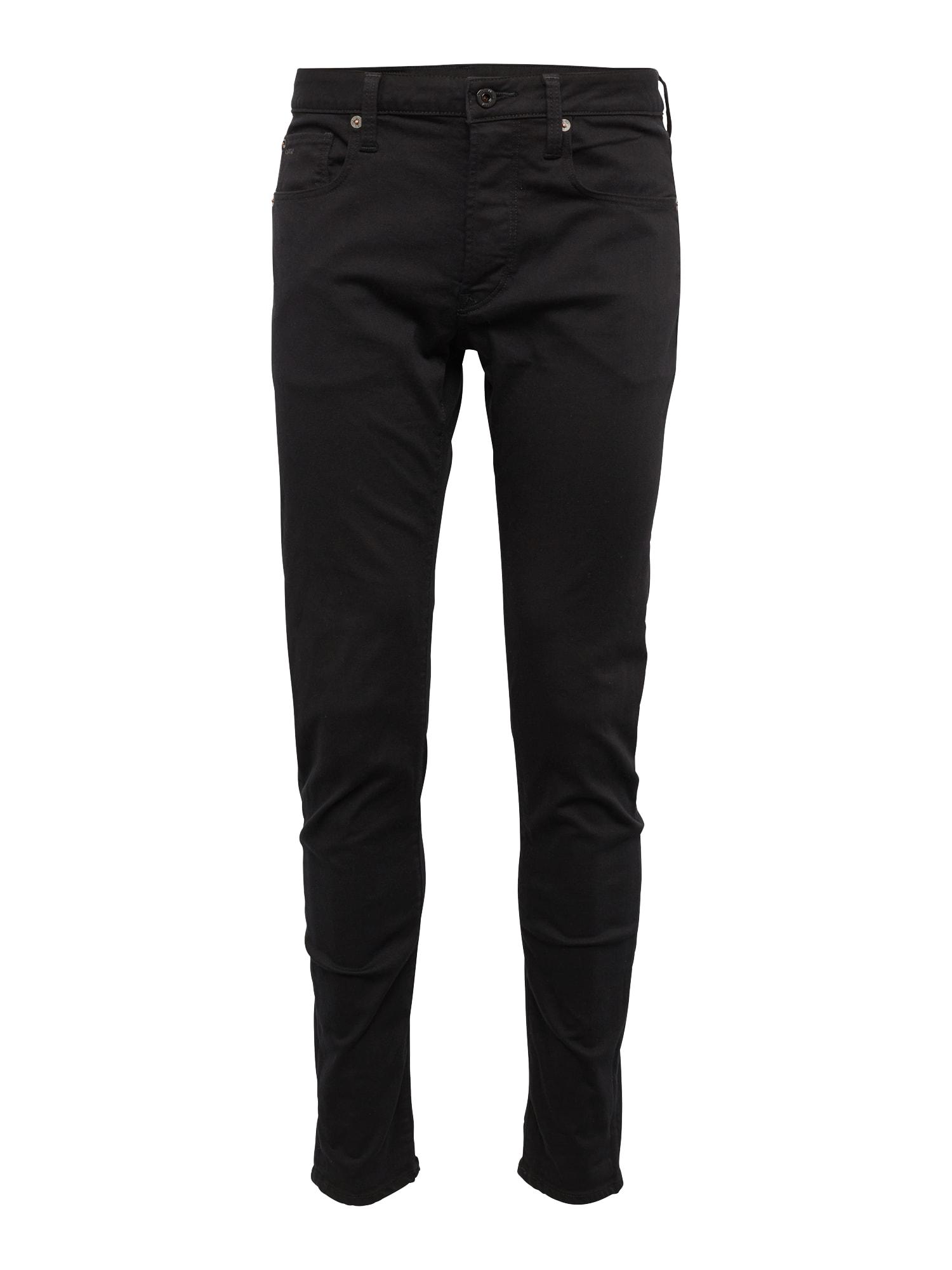 G-STAR RAW Heren Jeans 3301 Slim zwart