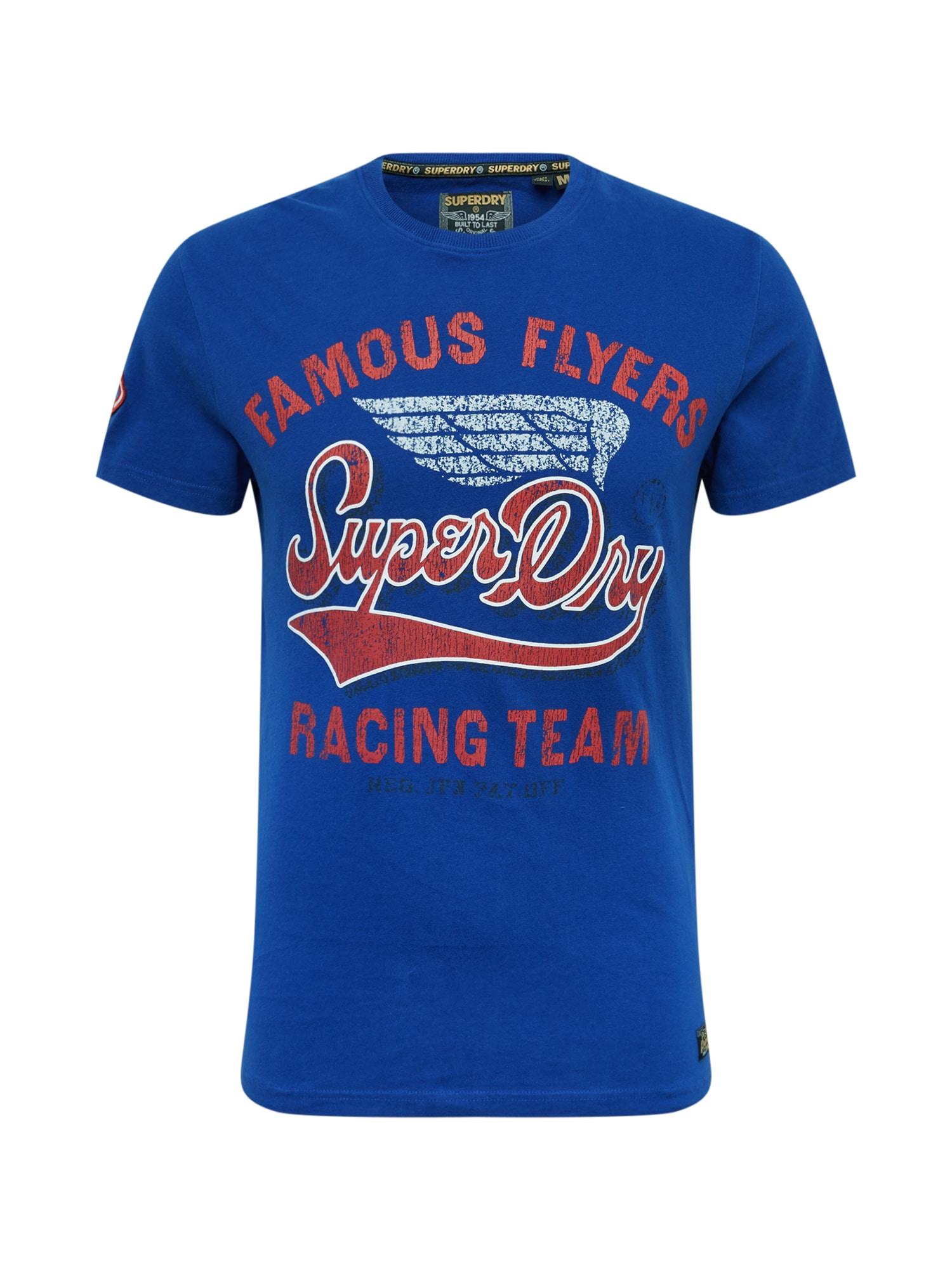 Tričko Famous Flyers modrá červená Superdry