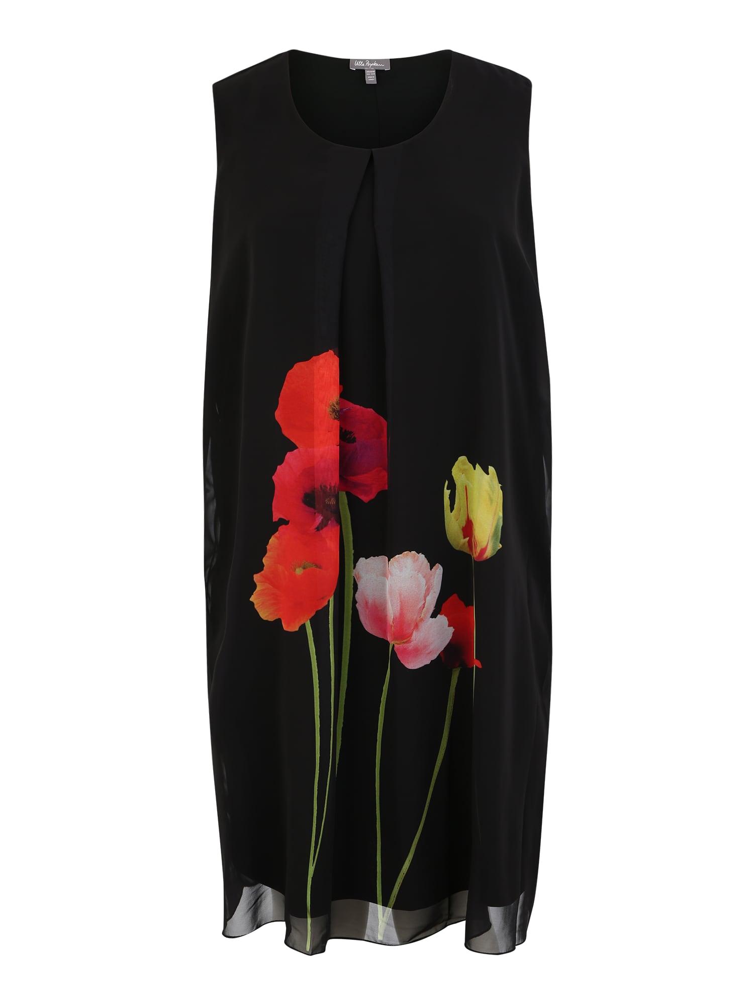 Šaty olivová černá Ulla Popken