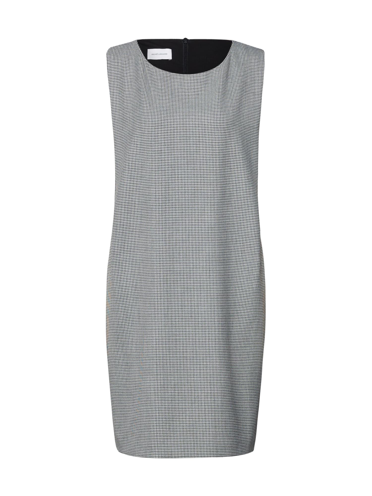 Pouzdrové šaty šedá bílá RENÉ LEZARD