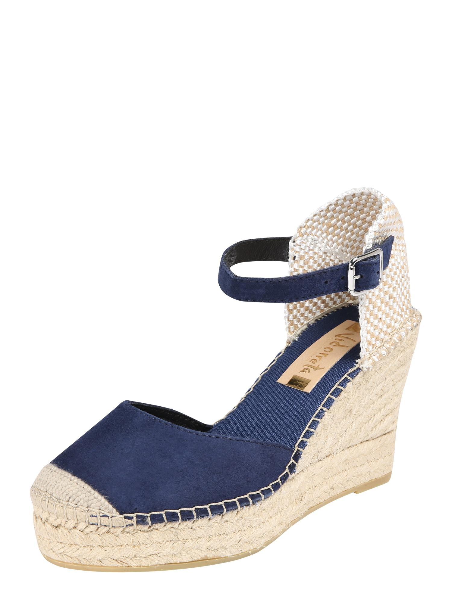 Páskové sandály marine modrá Vidorreta