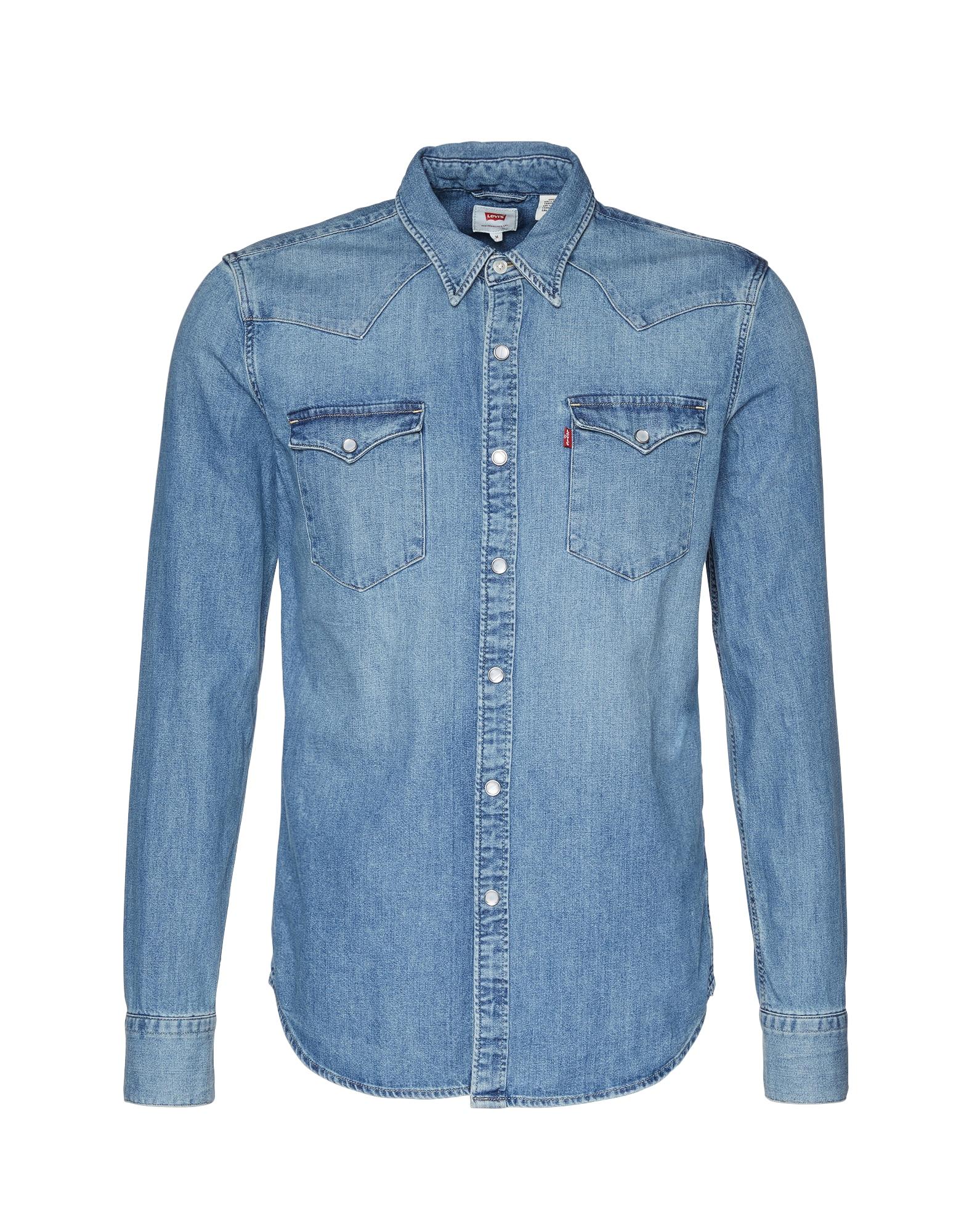 LEVI'S Heren Overhemd Barstow Western blauw