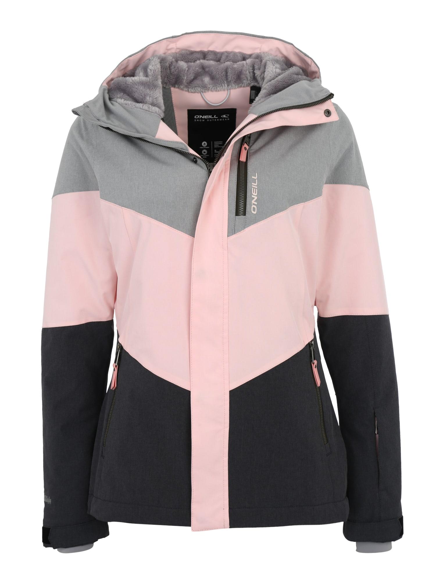 ONEILL Outdoorová bunda Coral šedá růžová černá O'NEILL